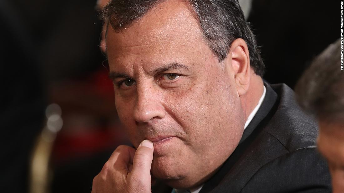 Chris Christie, eyeing the box of Oreos across the room