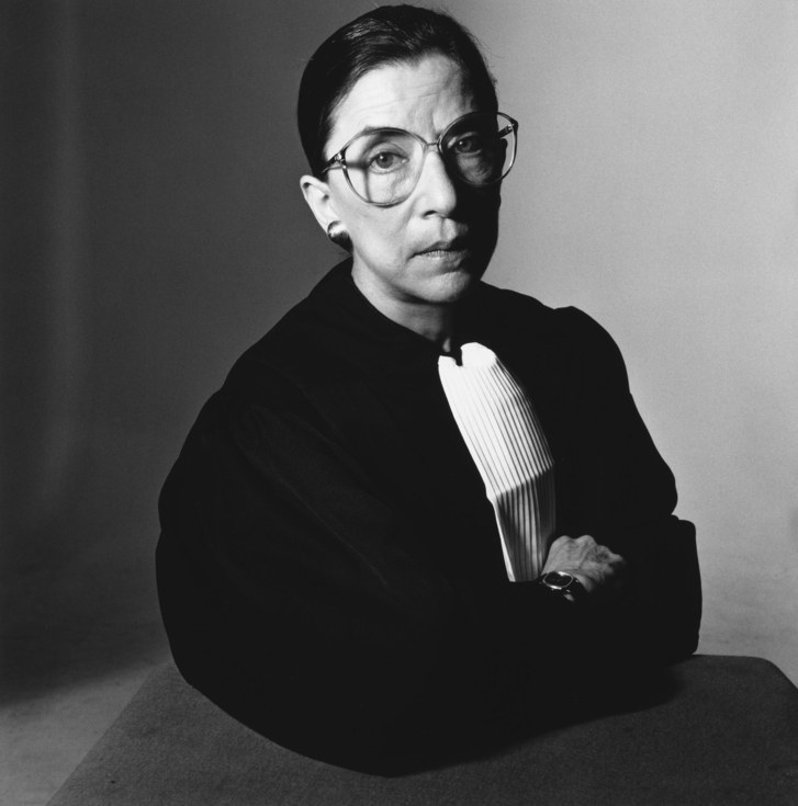 A young future Supreme Court Justice Ruth Bader Ginsburg