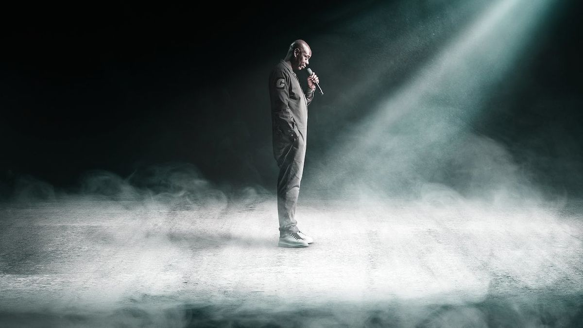 Dave Chappelle on stage in Atlanta, filmed for his most recent Netflix special  Sticks and Stones,  released on August 26th