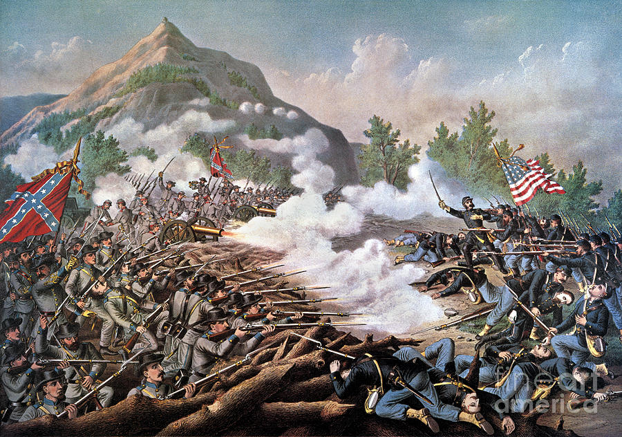 The Battle of Kennesaw Mountain, Georgia, June 27th, 1864  (1891) ,  by Kurz and Allison