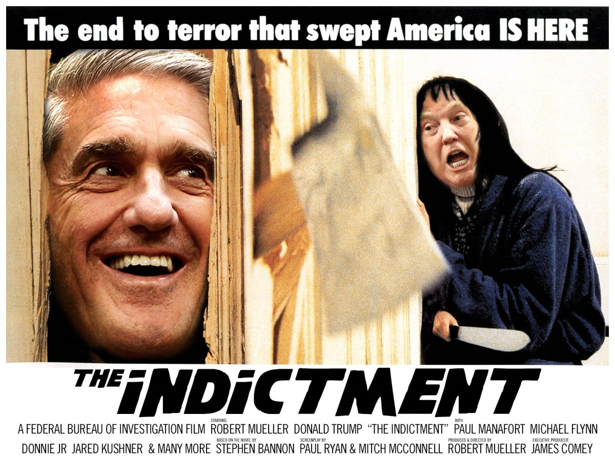 Factual photo taken at Mueller's testimony to Congress on the Russia probe in July (over confidence is pretentiousness with less of a backbone)