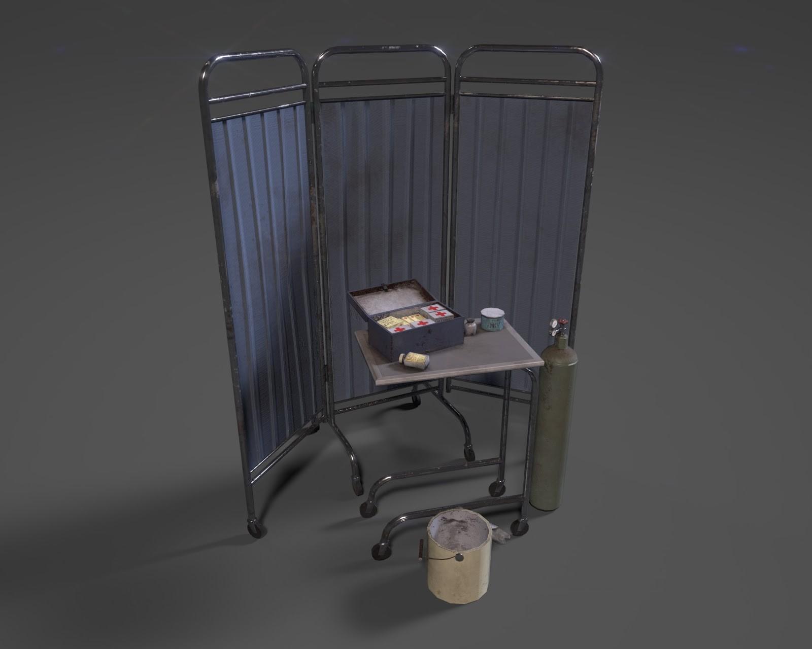 3D Render of medical assets by Art Lead Chris Jones.