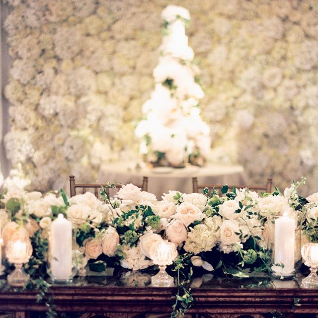 The prettiest garland and backdrop for the sweetest table. XO #blissweddingsandevents #blissweddings #blissevents #floralgarland #chicagoeventplanner