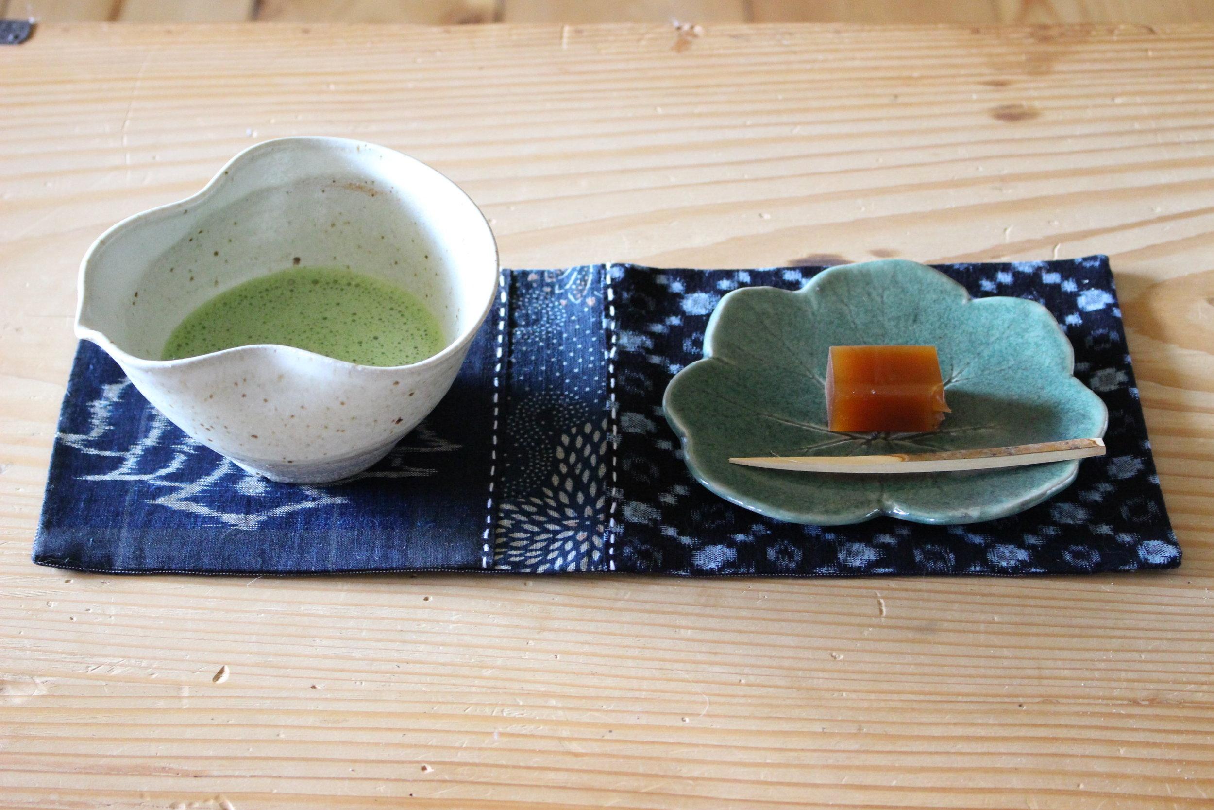 Aizome Kata Tea Mat -