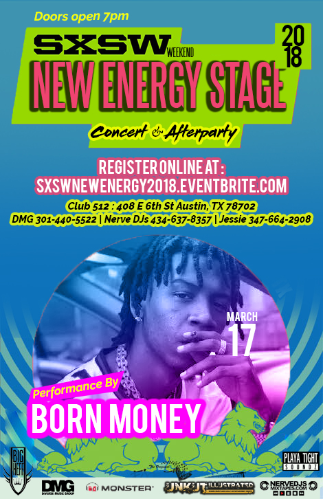 Paul Lewis Magic Music Management Born Money SXSW Performance Flyer.JPG