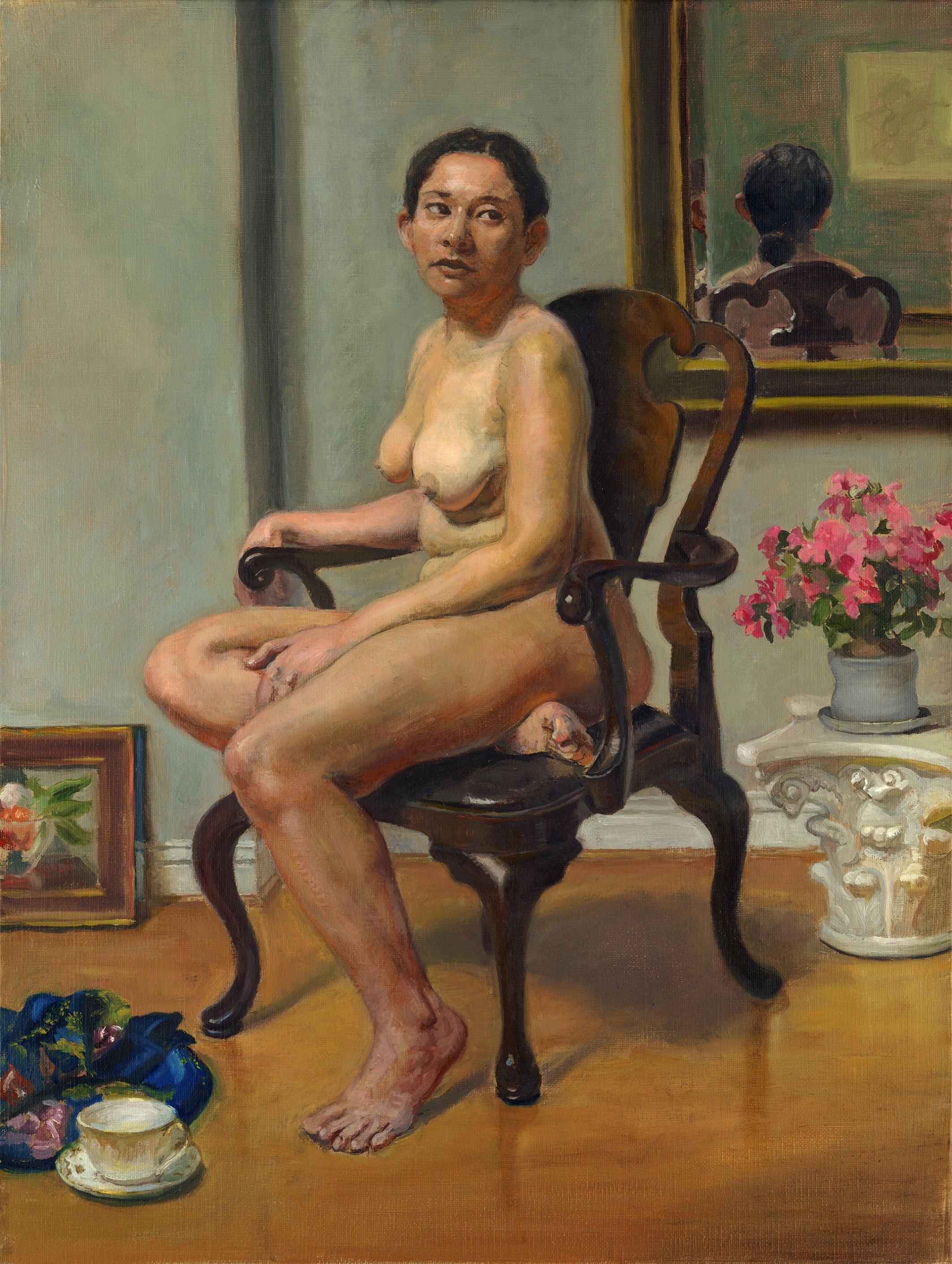 Nude with a White Teacup