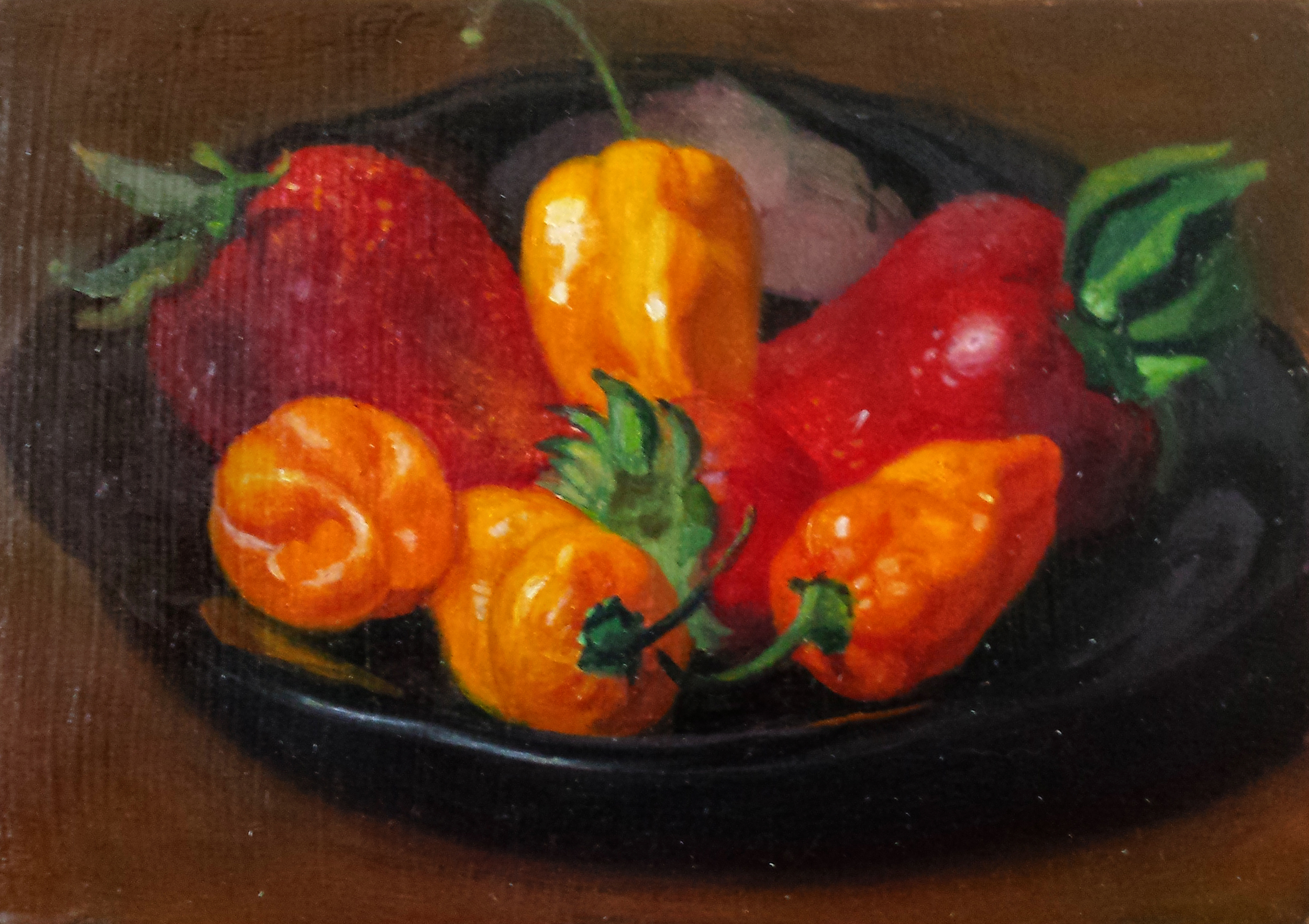Strawberries and peppers