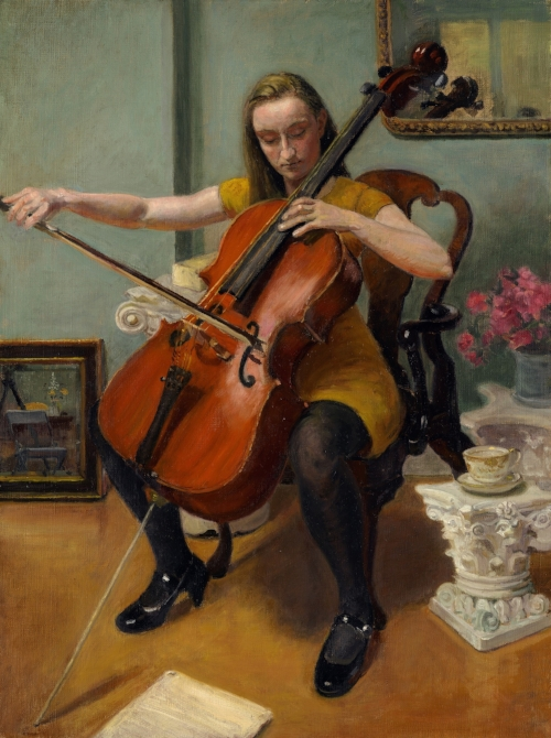 Alexandra Playing her Cello