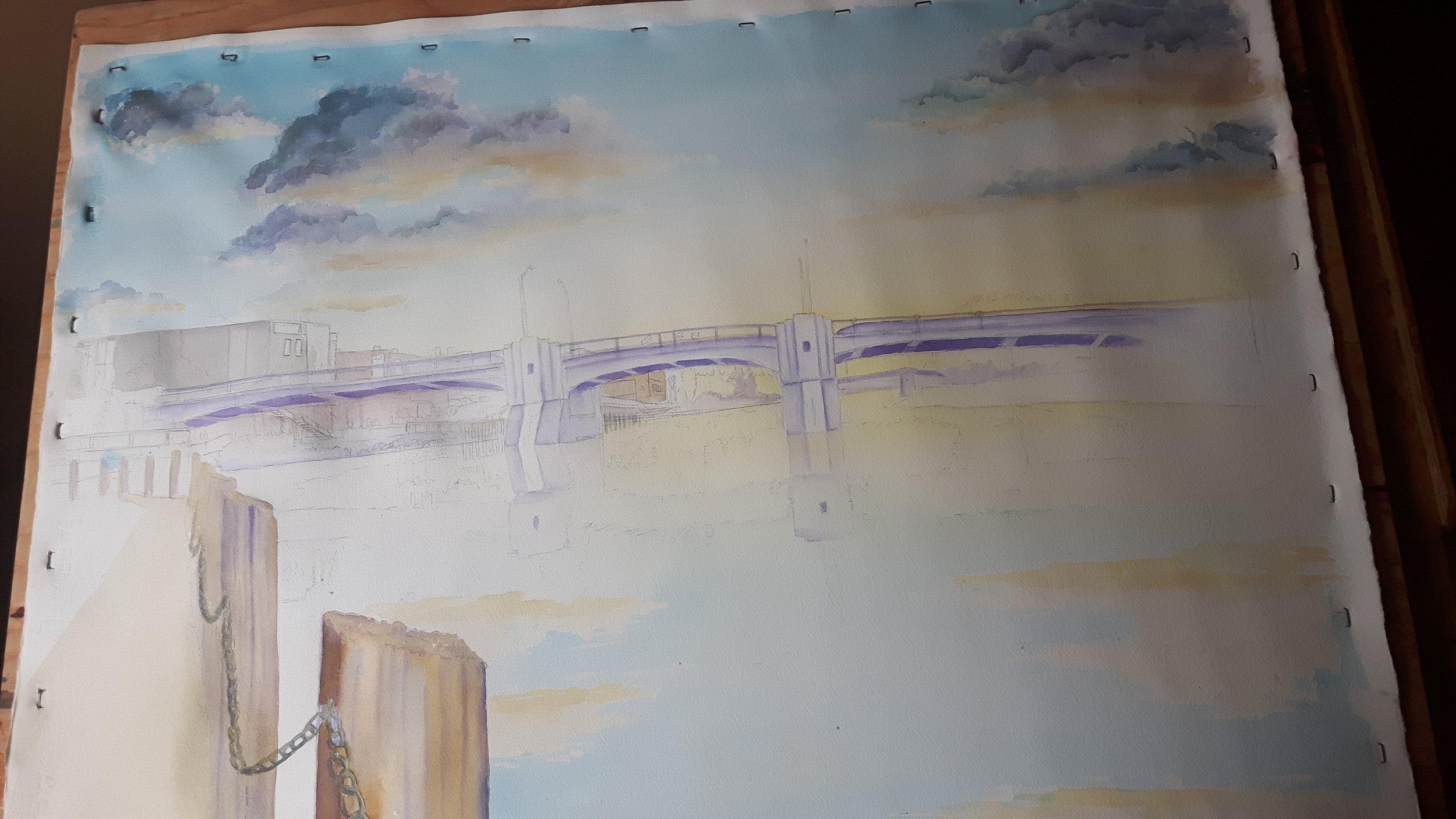 Day 4 progress. Fifth st bridge, Chatham, On.