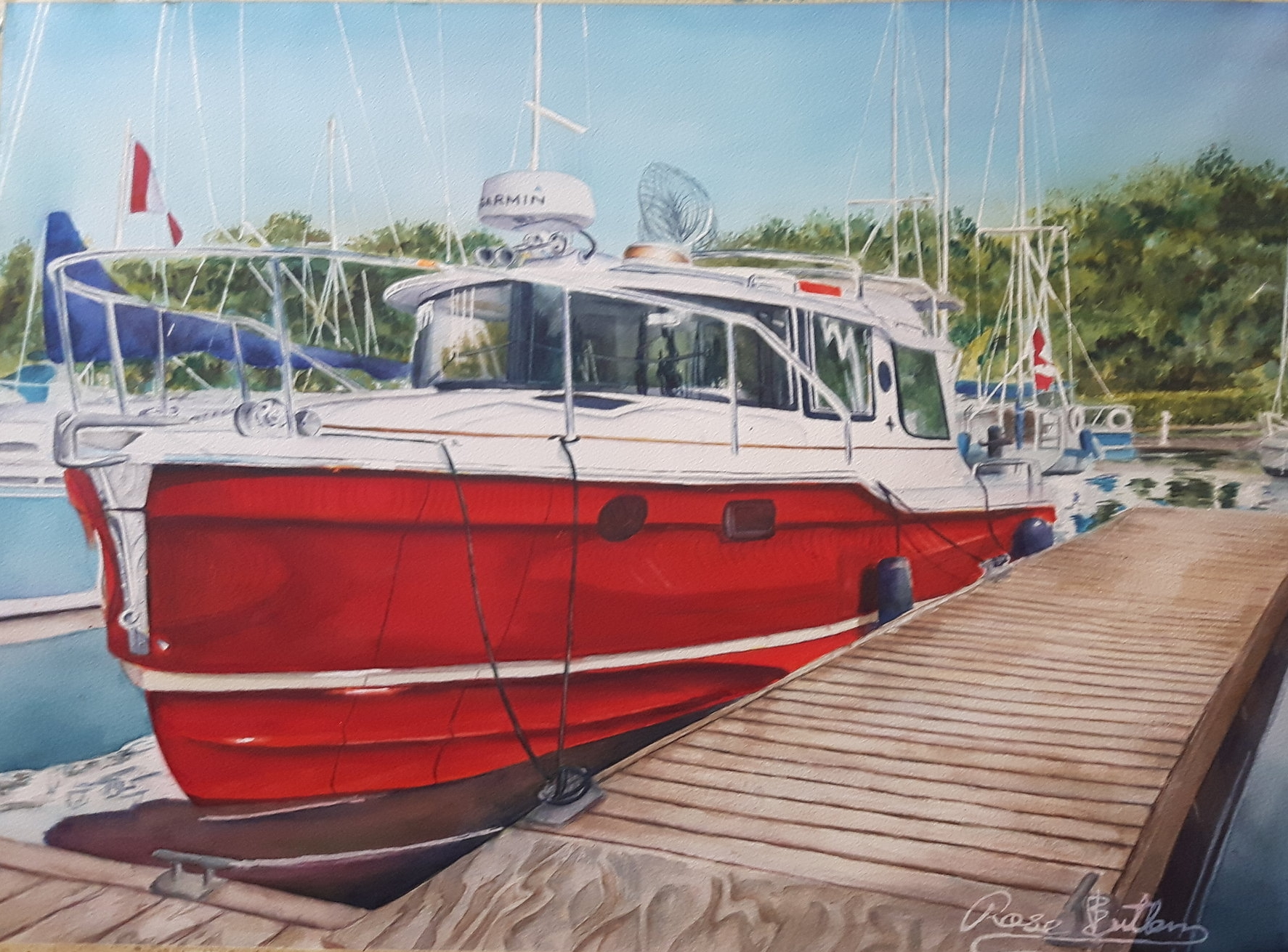 Finished boat painting
