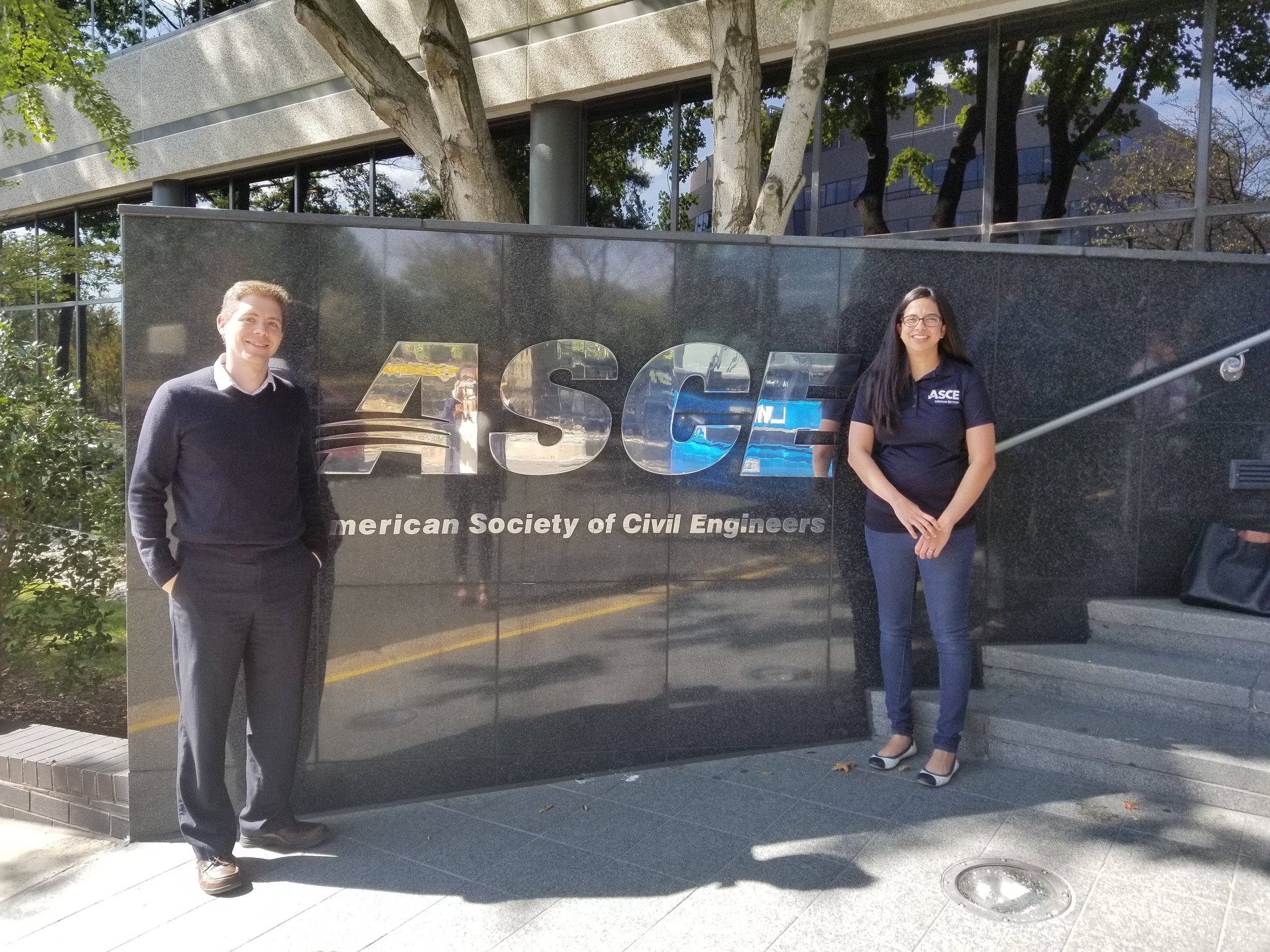 2019 -2020 ASCE Oregon Section President Bahaar Taylor (right) and President-Elect Josh Goodall (right)