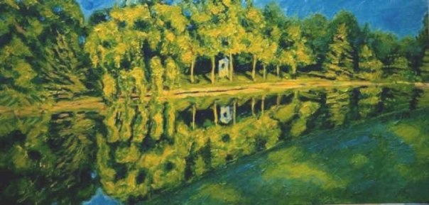 "Sold                ""Turtle Creek""     T Stem     12 x 24       Oil on Canvas                        T"