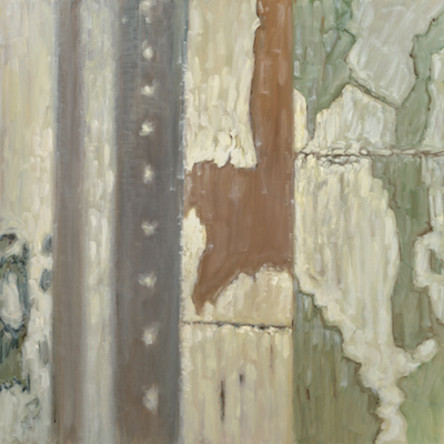 """Columns with Reflected Light"" oil on canvas 30 x 30. Original1500. Gilcee print 500.  2016"