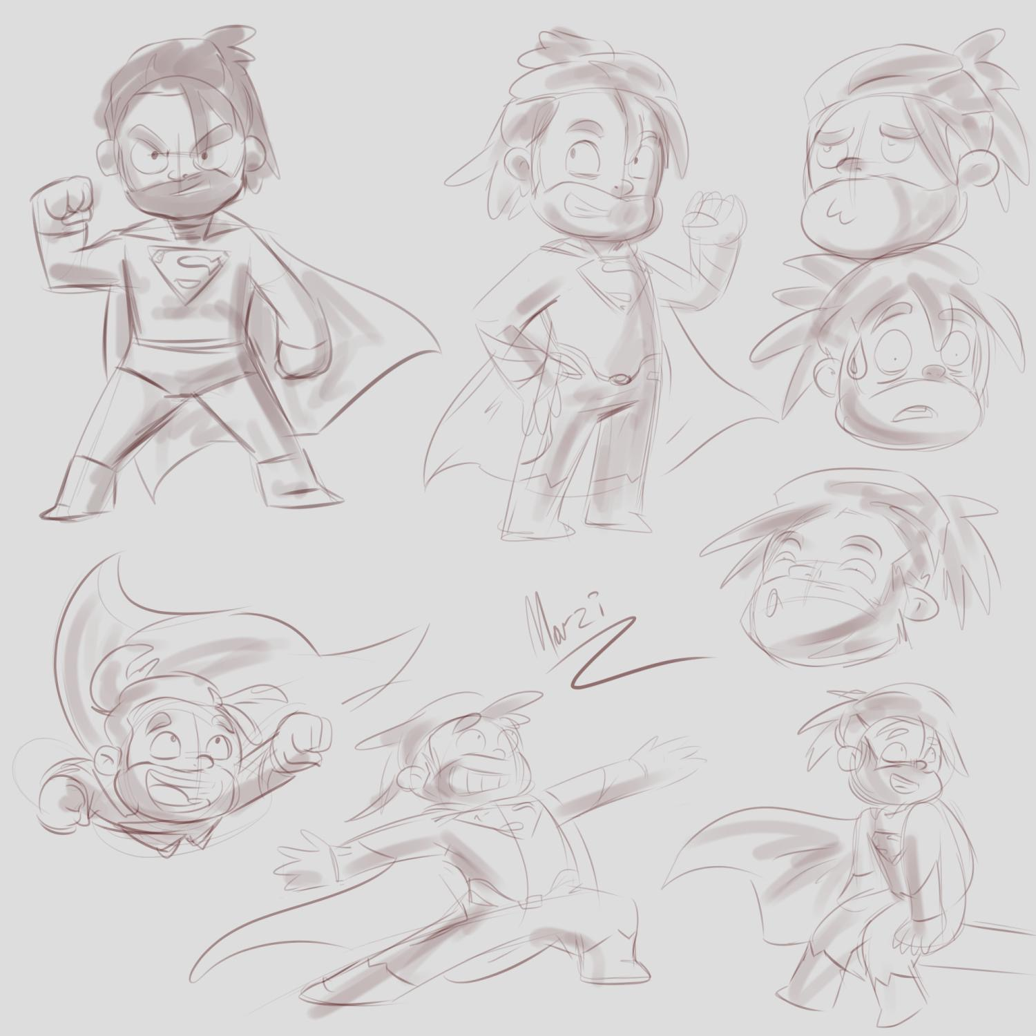 poses from the middle idea.
