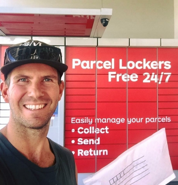Picking up a parcel from a locker in cairns, Qld - it's all to easy!!