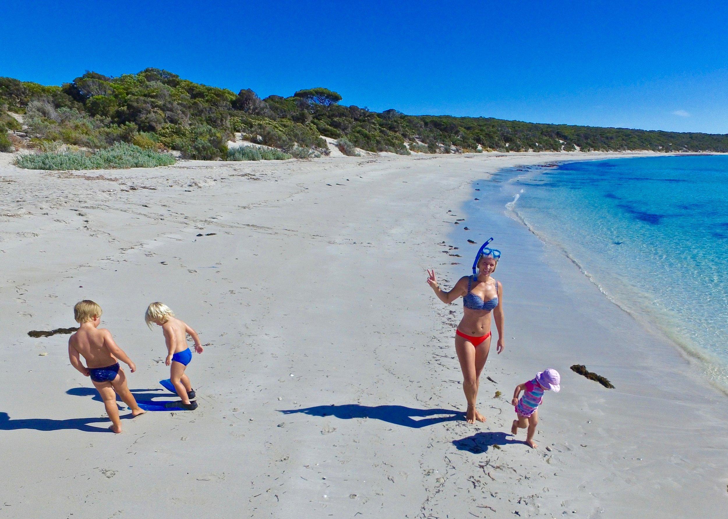 Snorkelling at Port Lincoln National Park, SA.