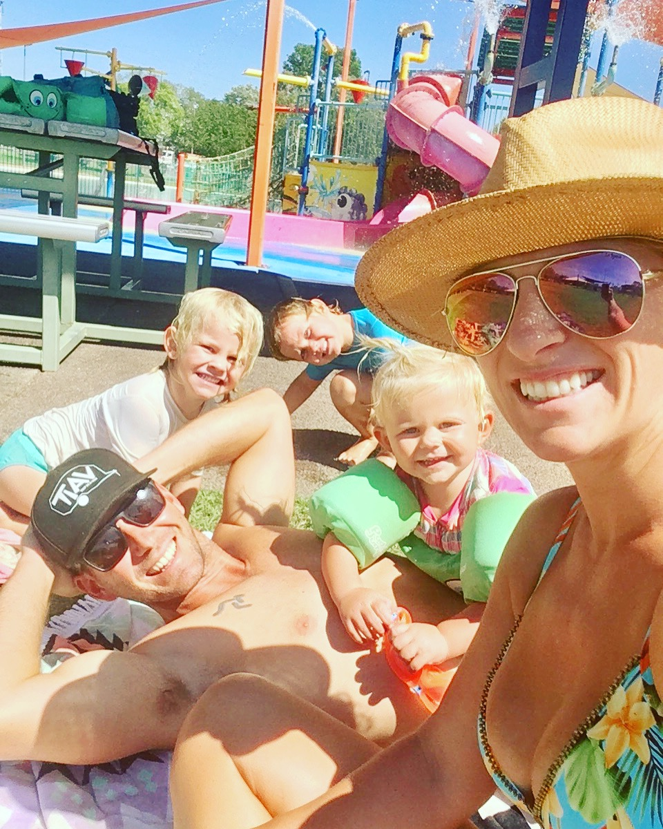Family time at Leanyer's FREE Water Park