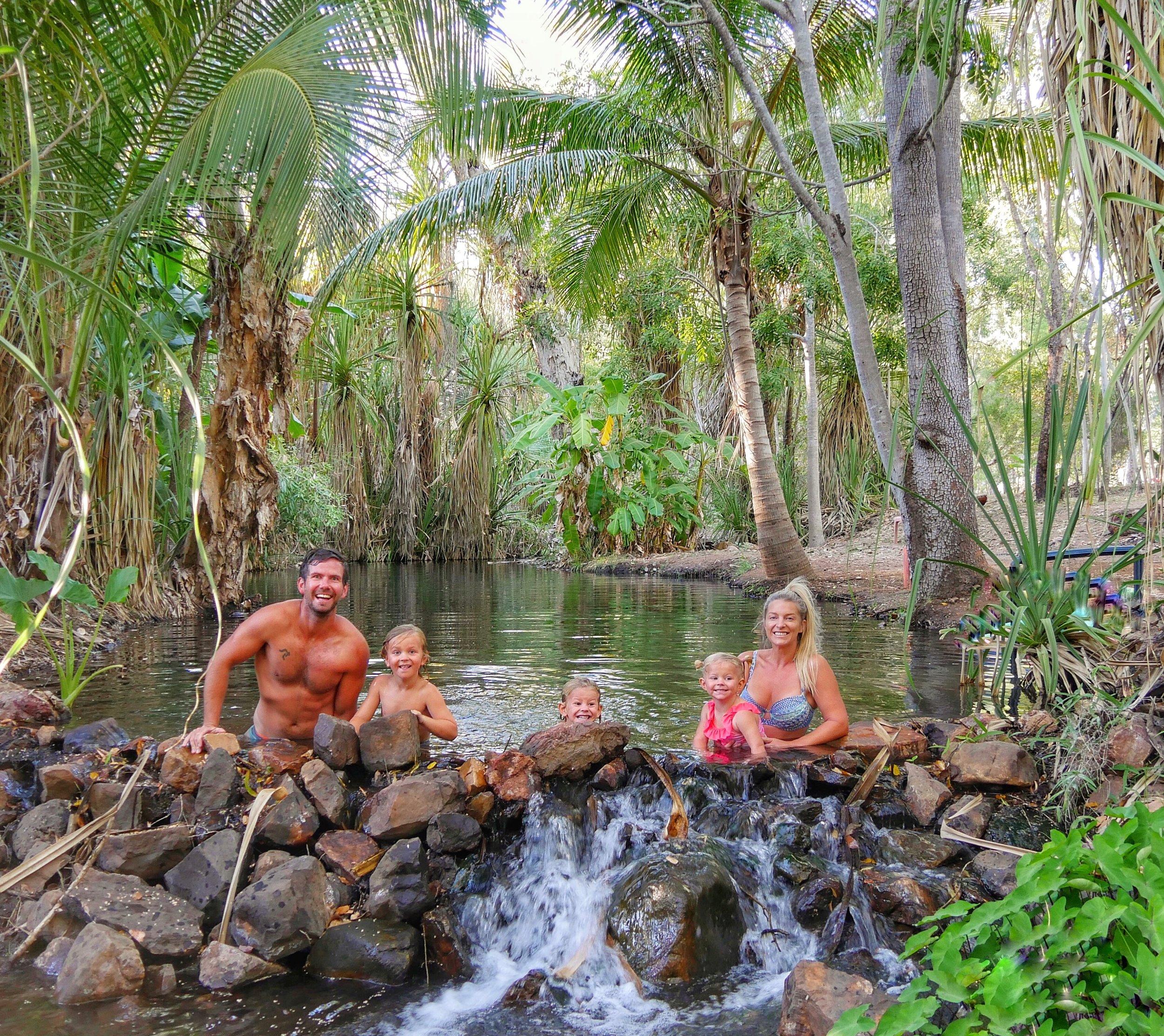 Magical Hot Springs at Lorella Springs Homestead.