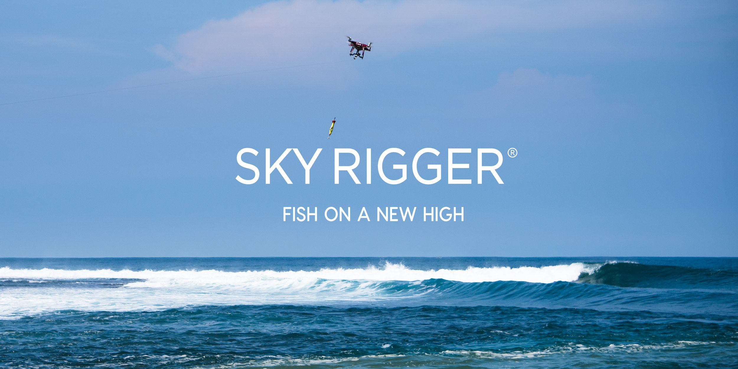 WE TRAVEL WITH A SKYRIGGER FOR THOSE TIMES WHEN WE CAN SEE THE FISH BUT JUST CAN'T REACH THEM!!