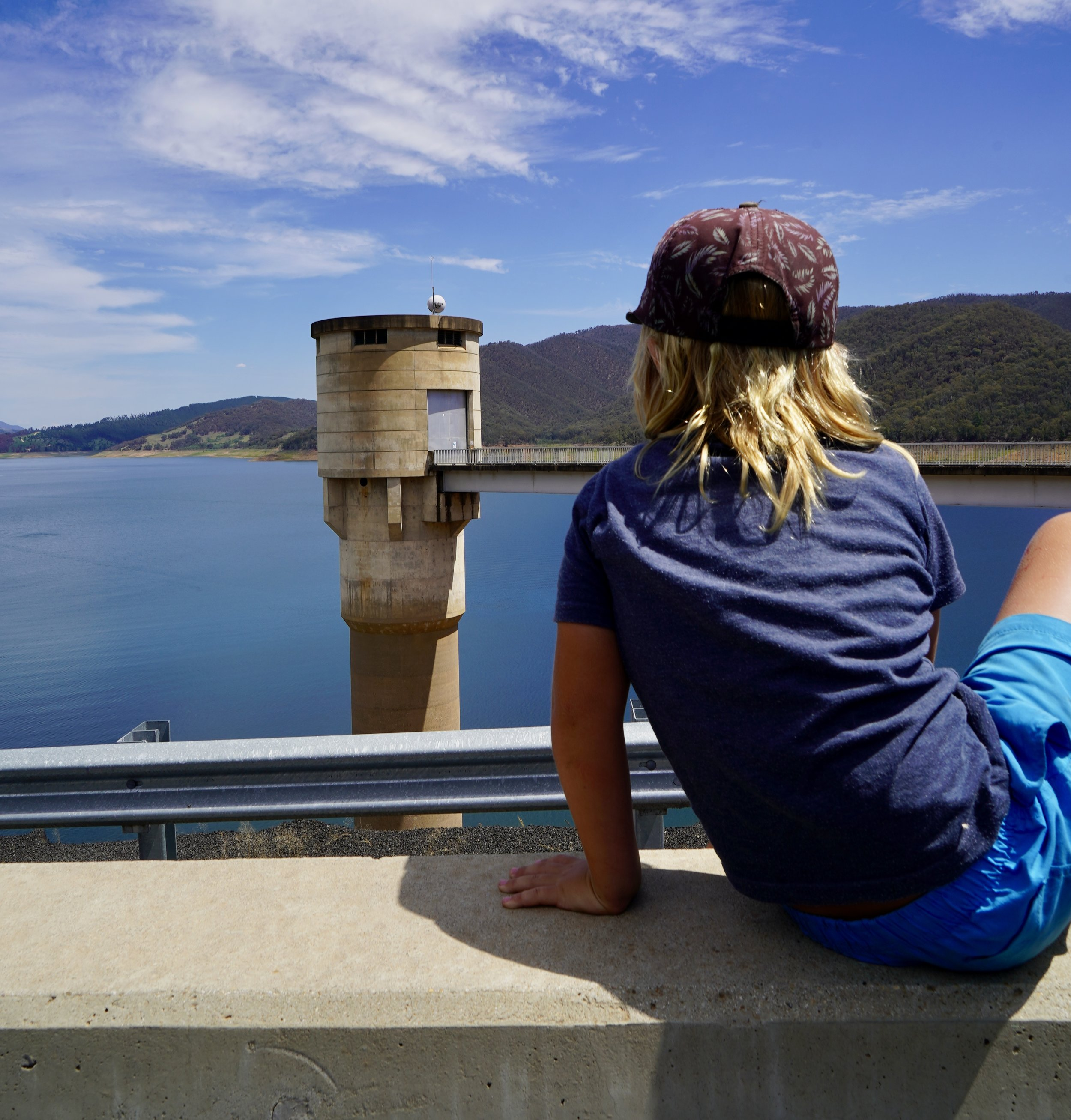 Jack checking out Blowering Dam