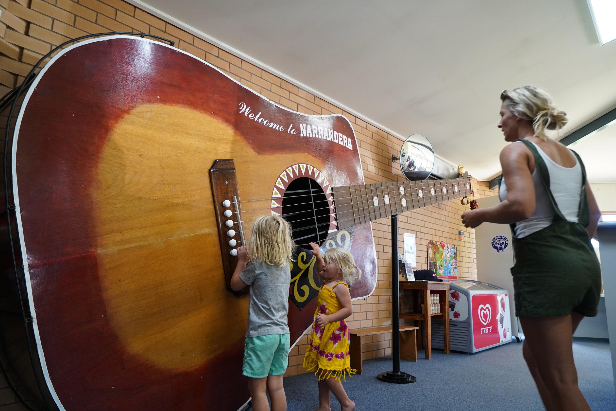 The BIG GUITAR at Narrandera Info Centre