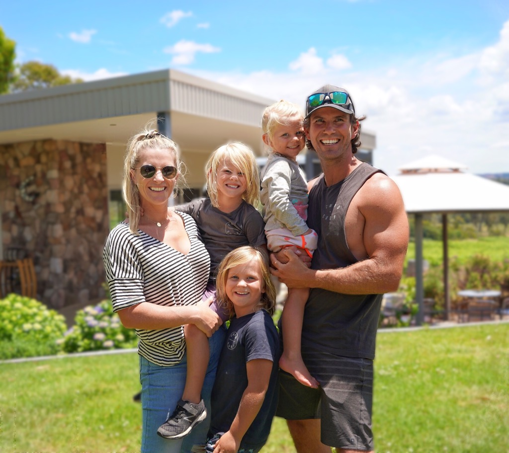 A family pic at Couraybra Wines, a great day here!