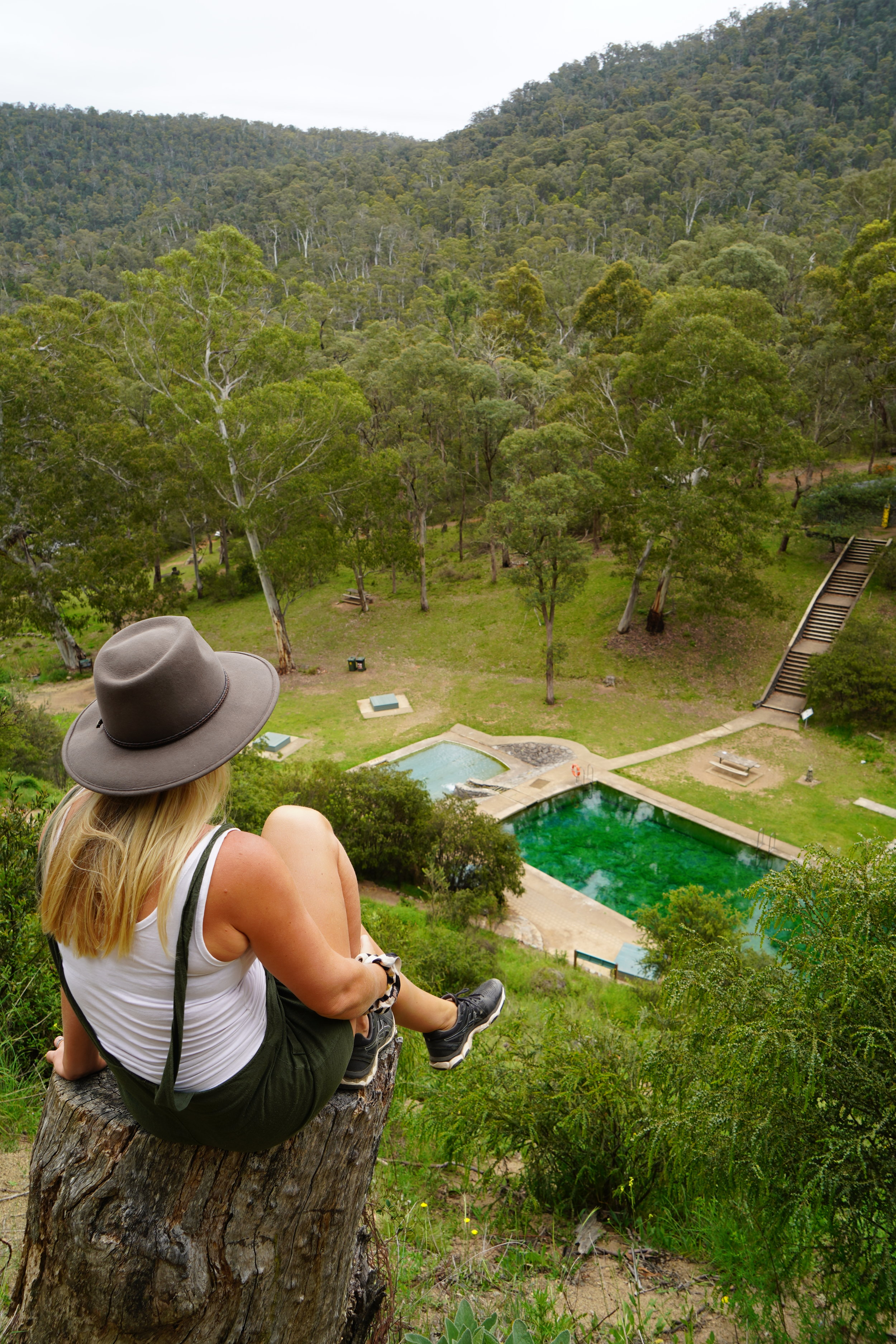 The Thermal Pools look amazing from the walking track as you descend.