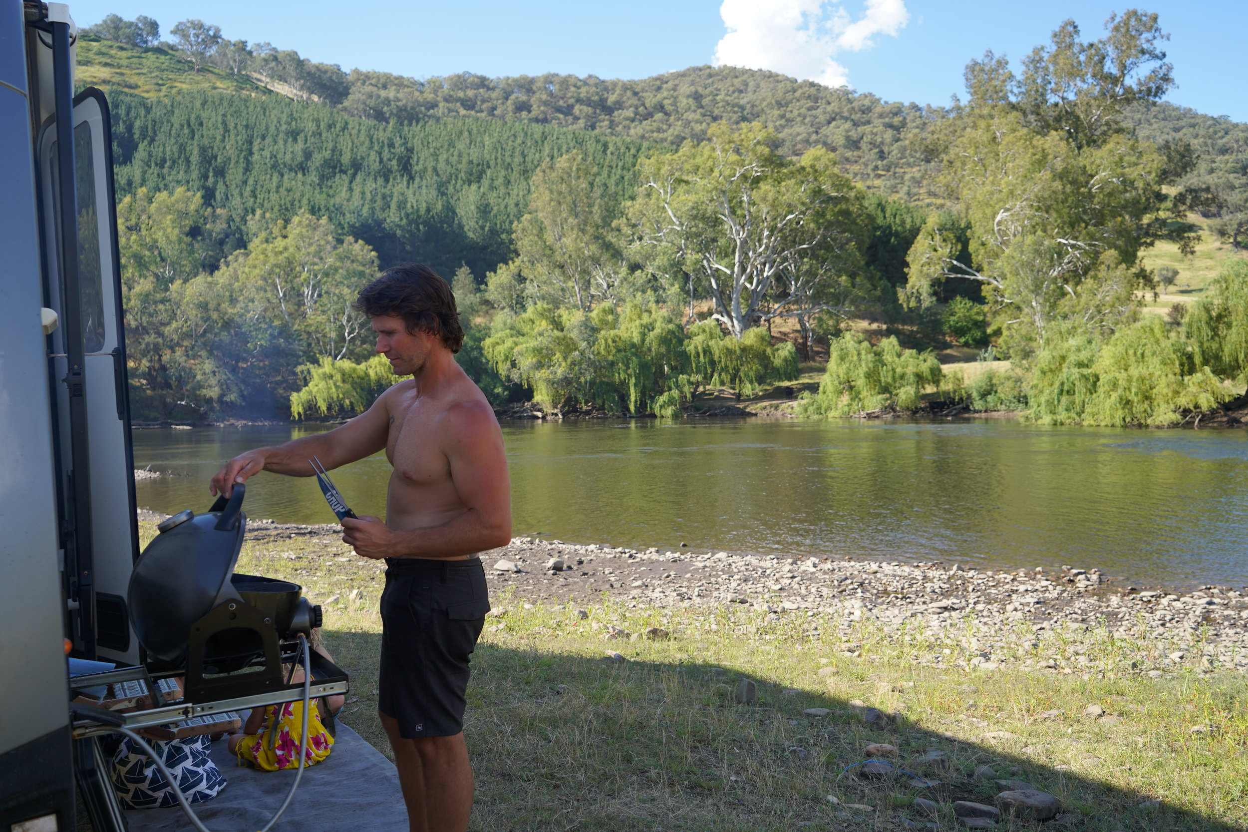 The Free camp at Gadds Bend on the Murray.