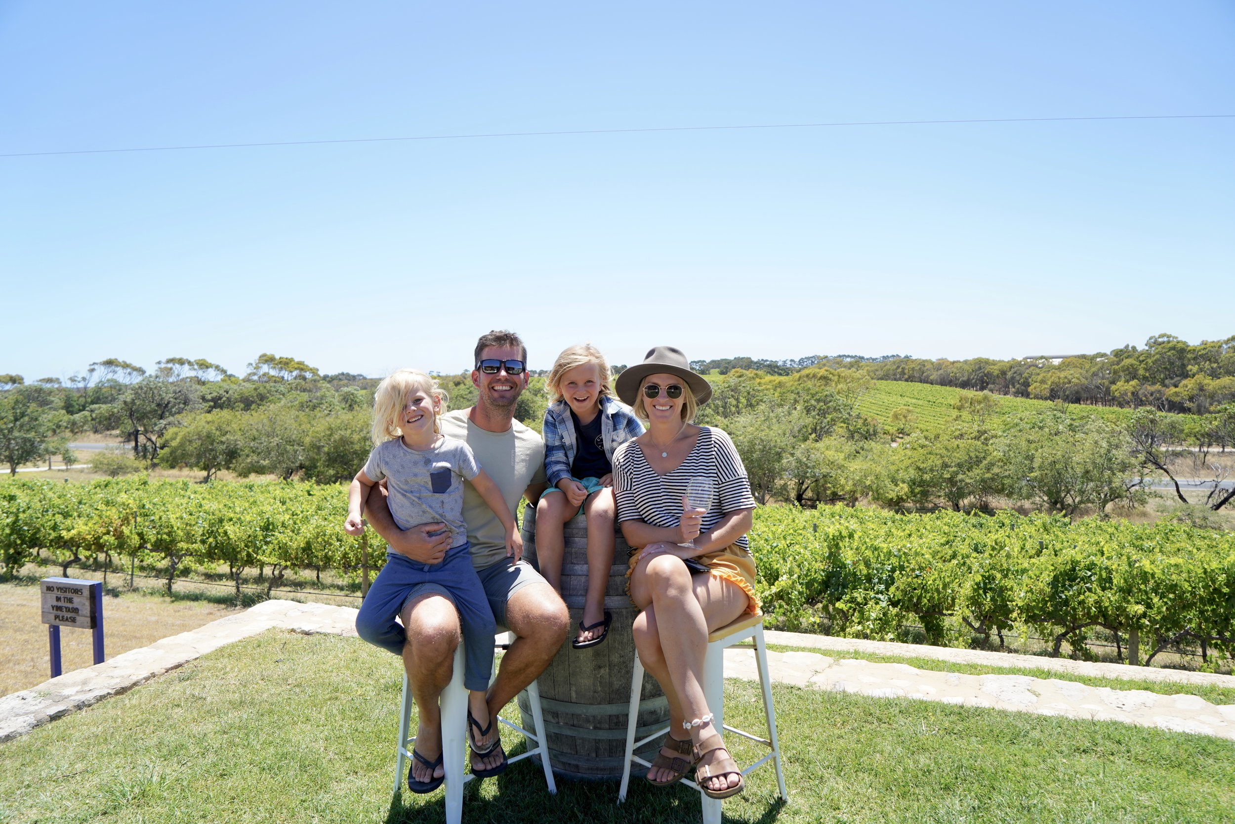 CAPE JAFFA WINES - We are one child down as Charli's asleep in the car..