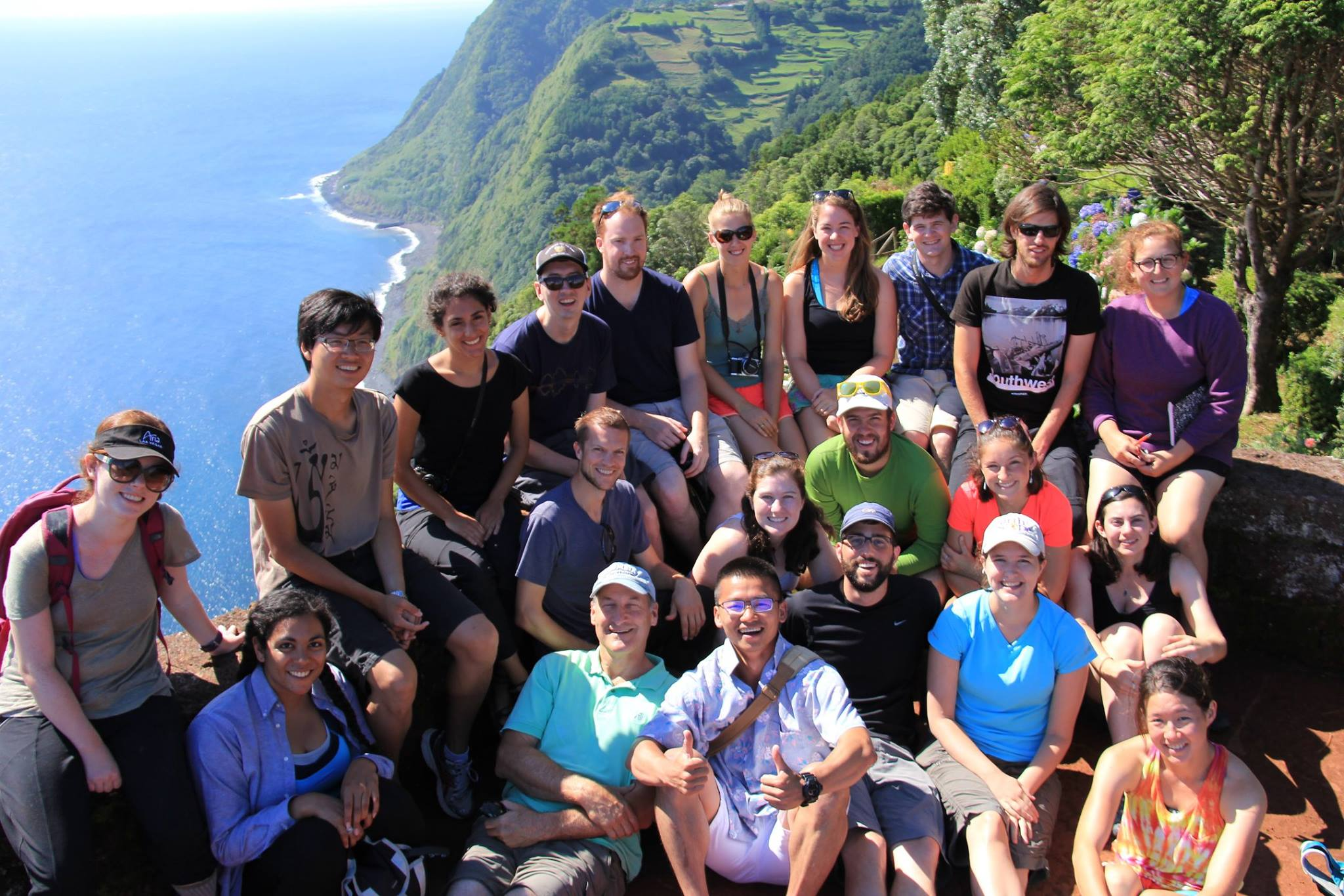 Group photo at the Edge of the Earth, Nordeste, São Miguel, Azores.