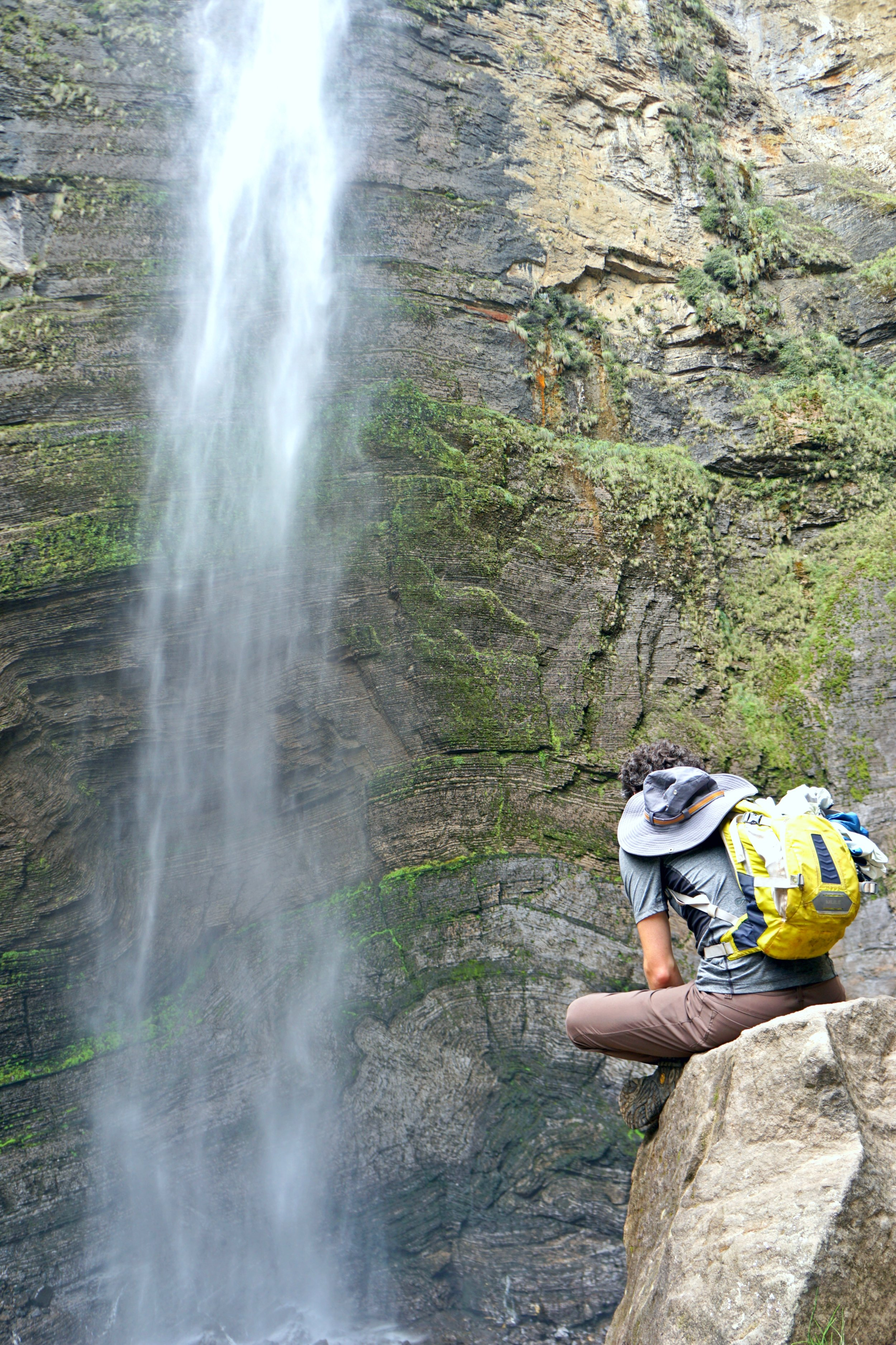 Taking in the breeze from Gotca Falls in Chachapoyas, Peru