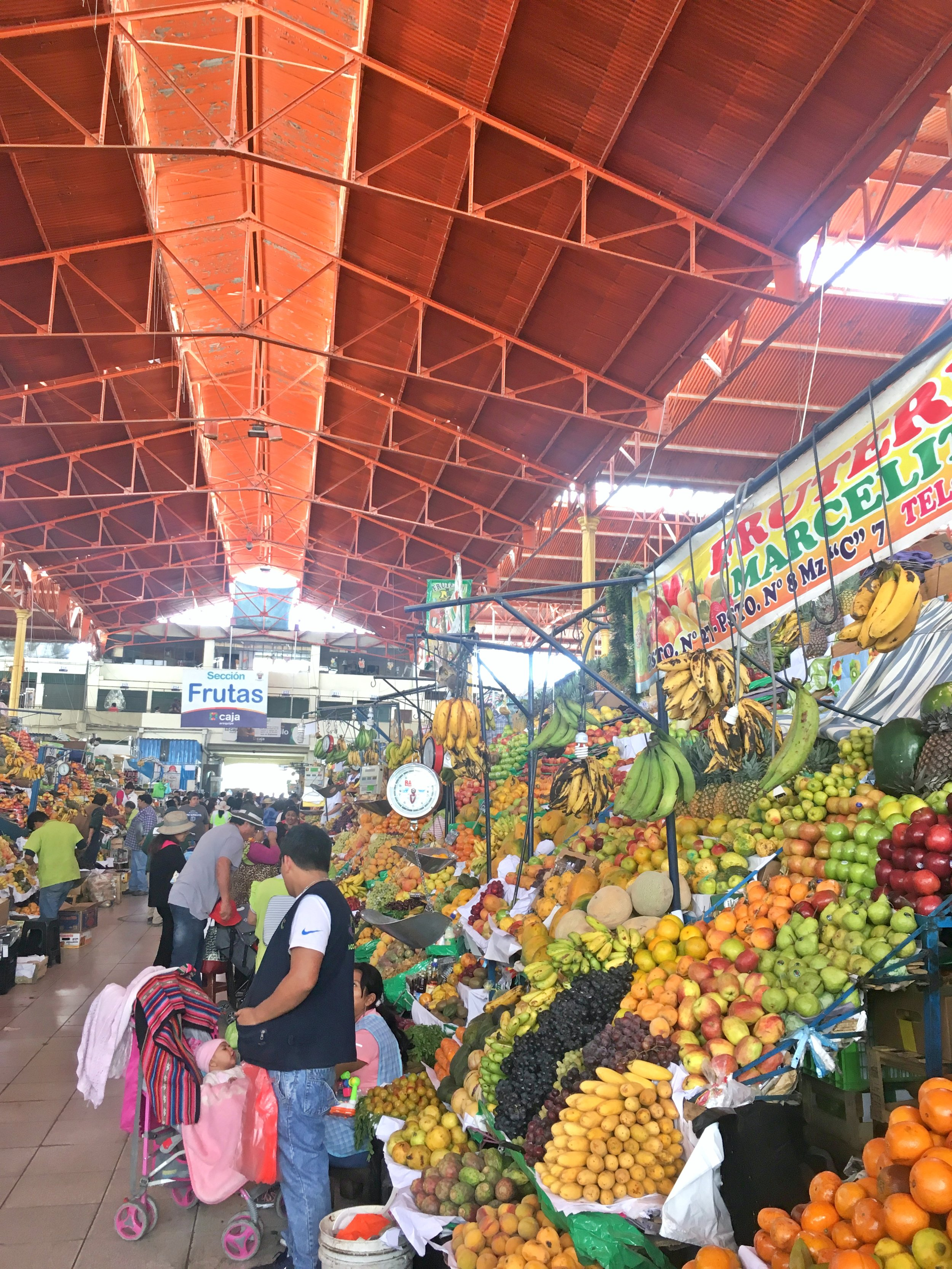 Entering the food mecca of Mercado San Camilo