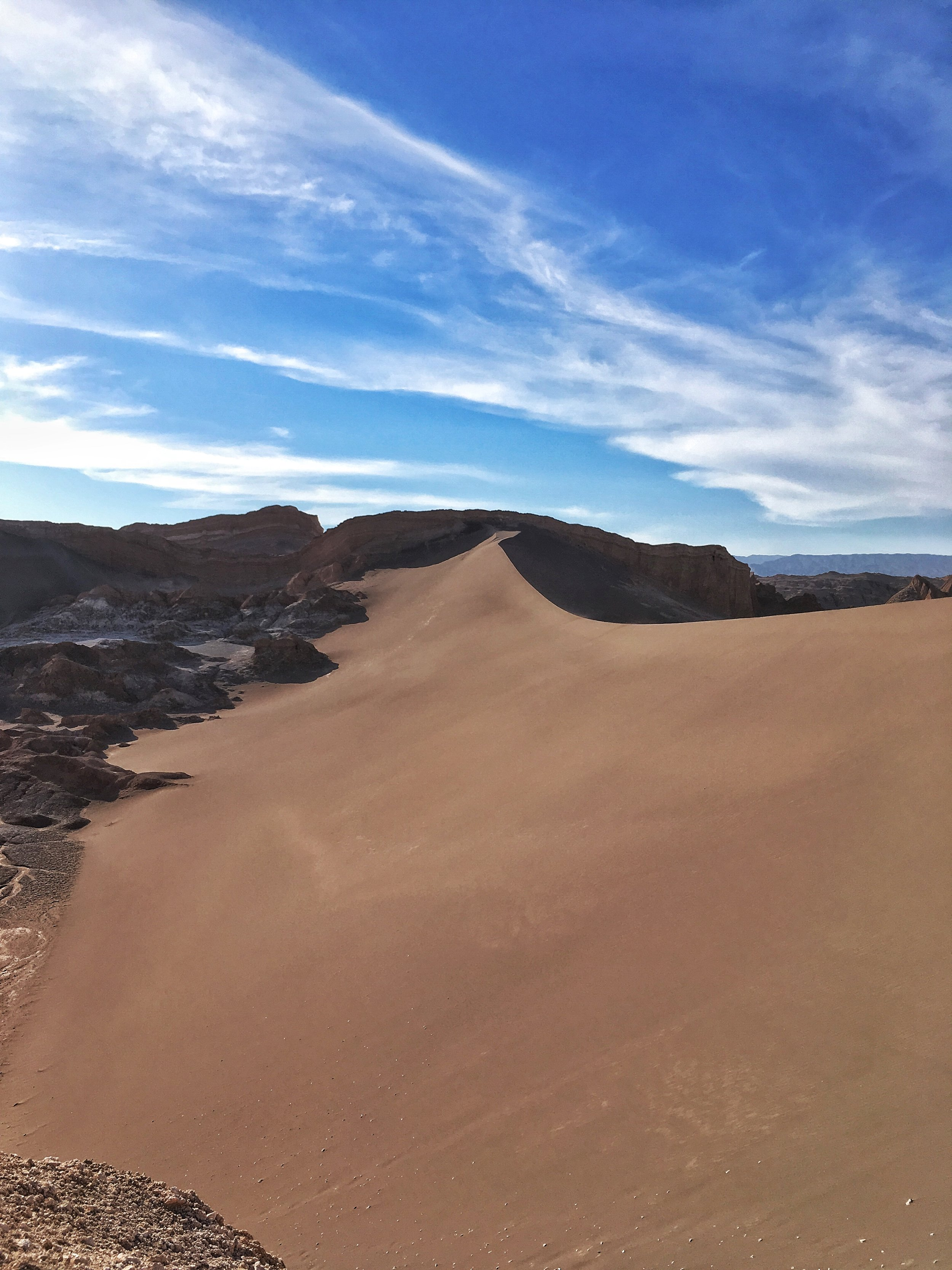 An untouched sand dune just begging for some footprints