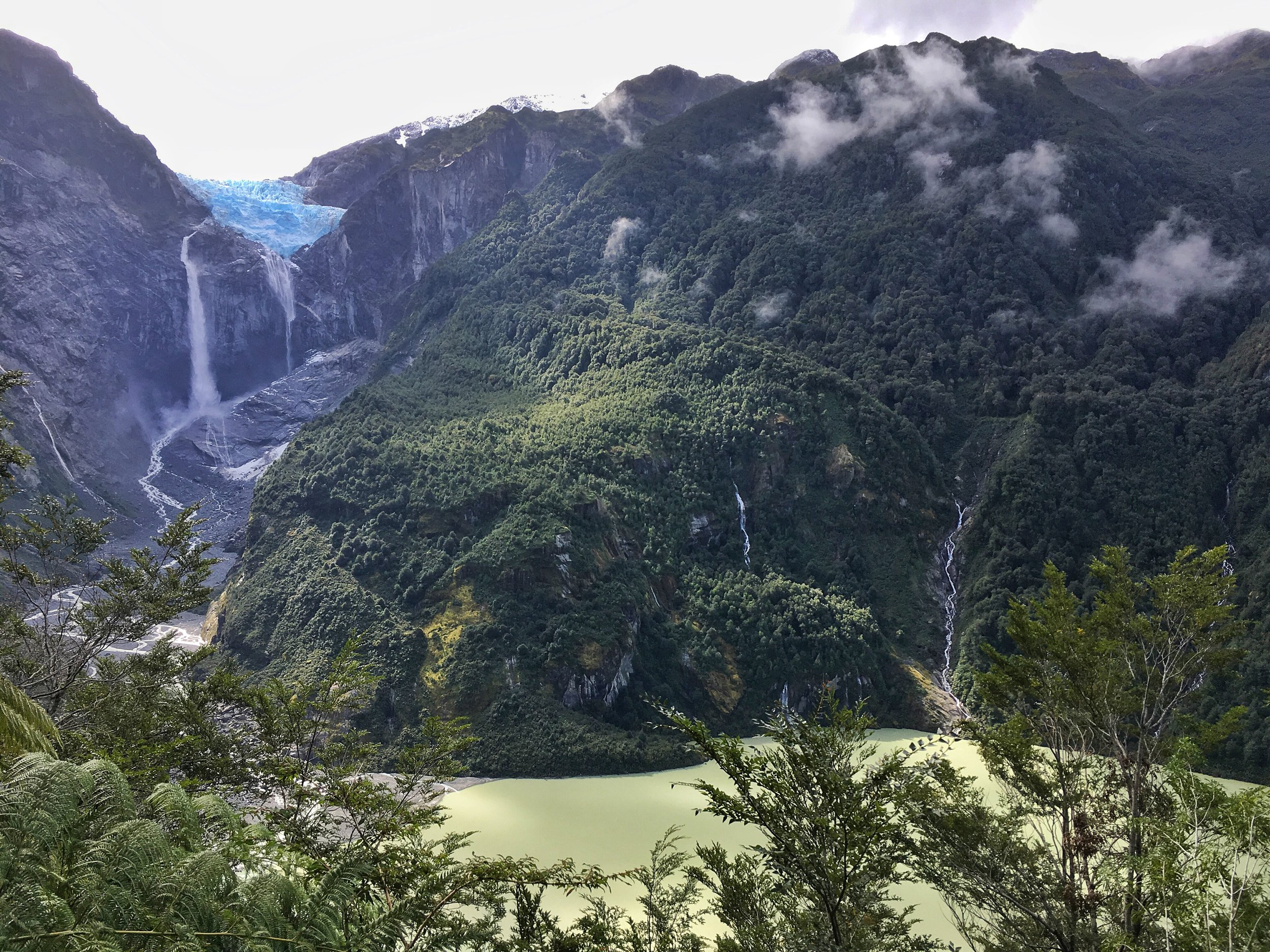 View from the Mirador in Queulat National Park