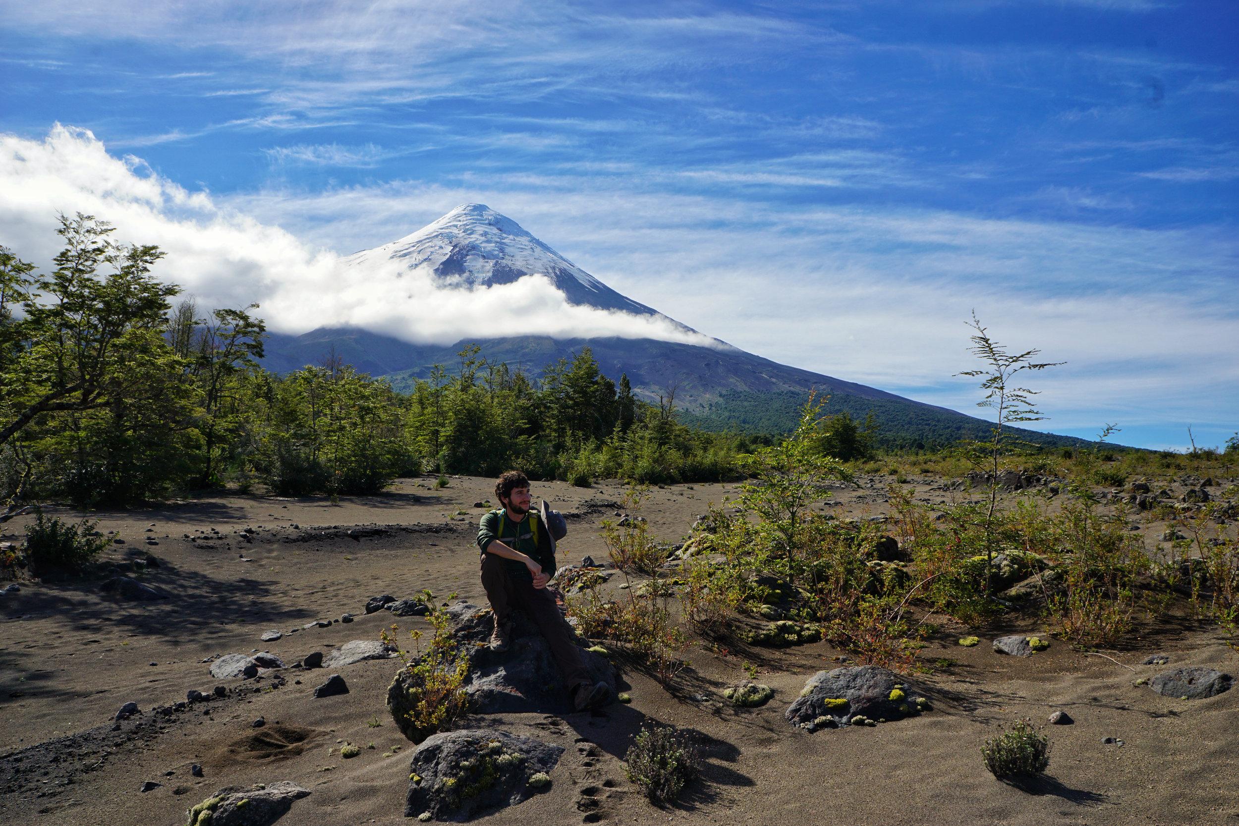 Resting below Osorno