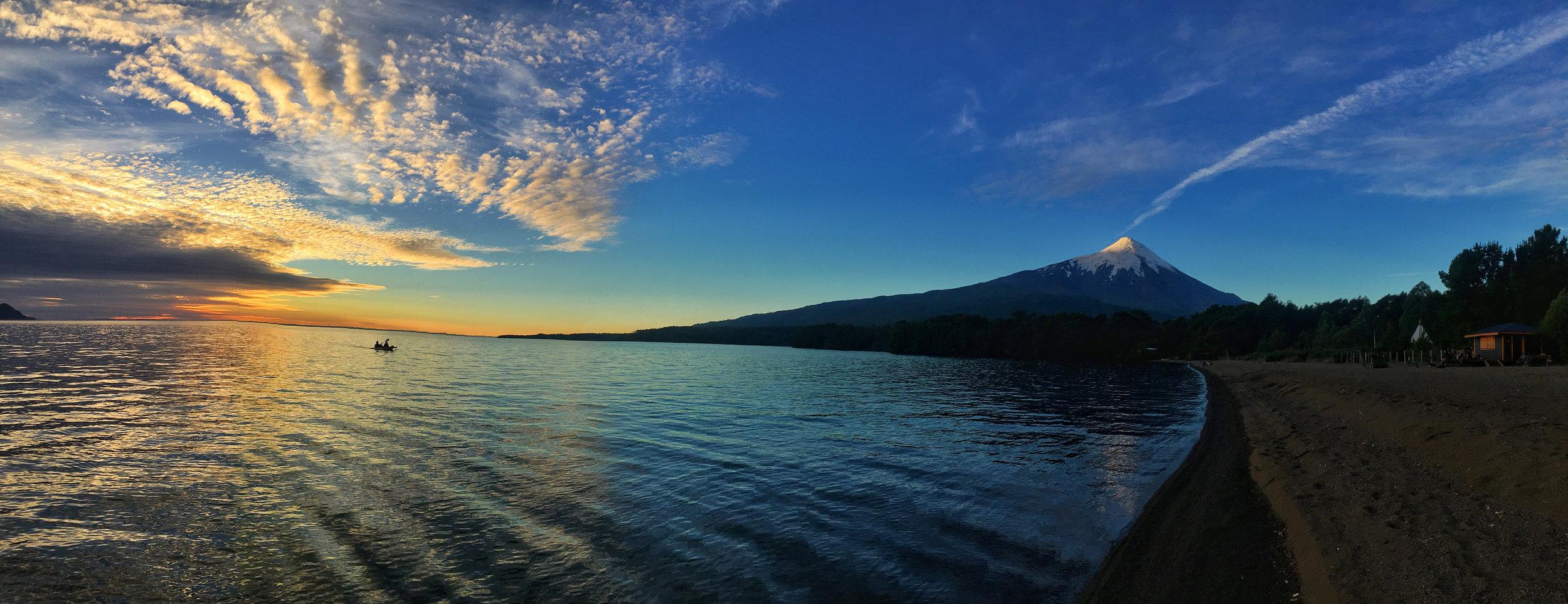 Sunset over Osorno Volcano