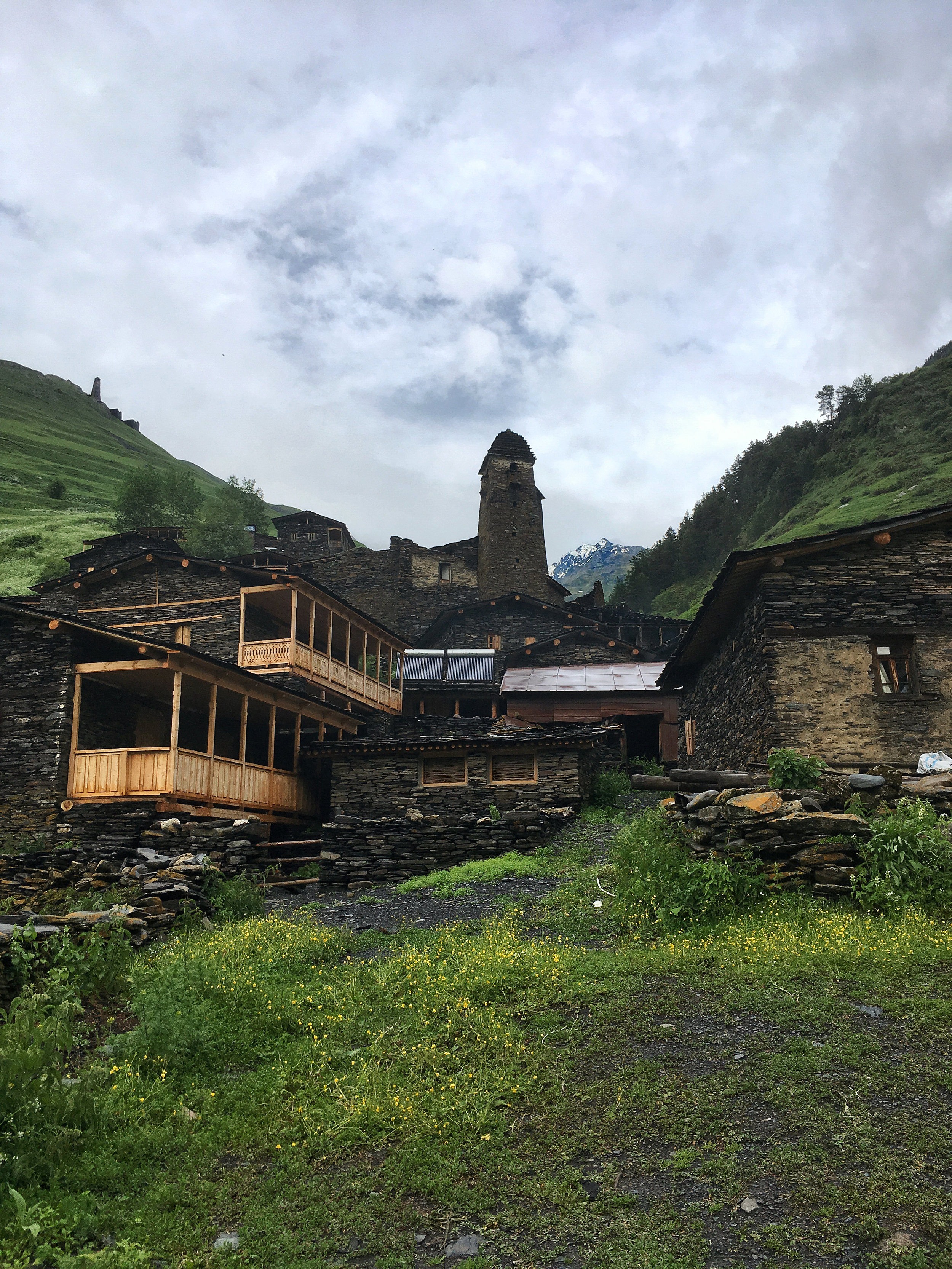 Slate buildings are all the rage in Tusheti