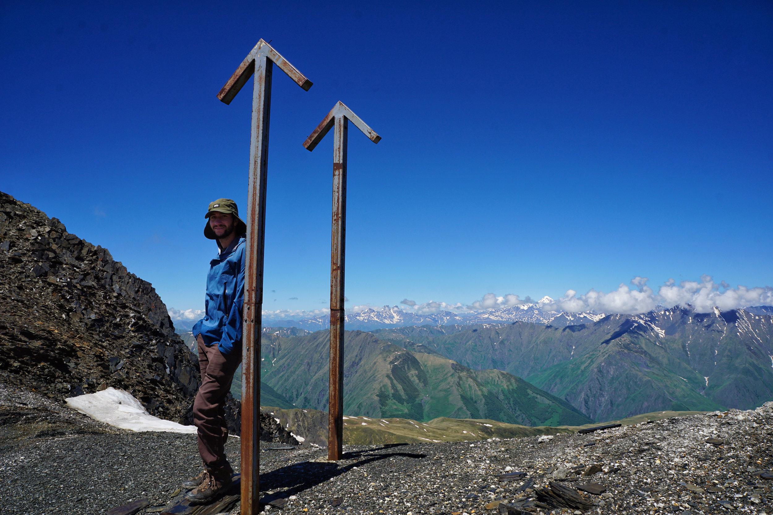 Feeling good atop Atsunta Pass