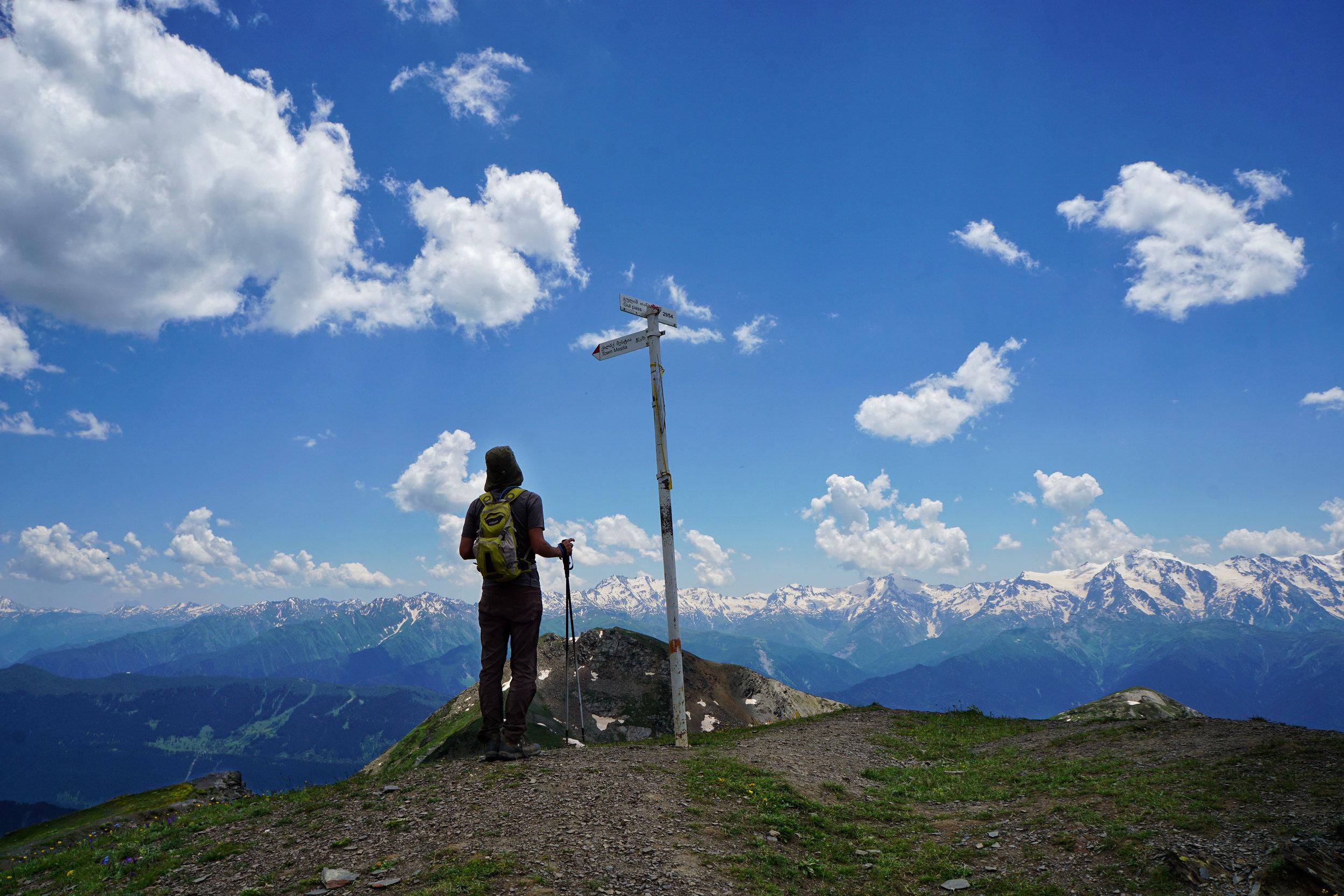 Standing atop Guli Pass