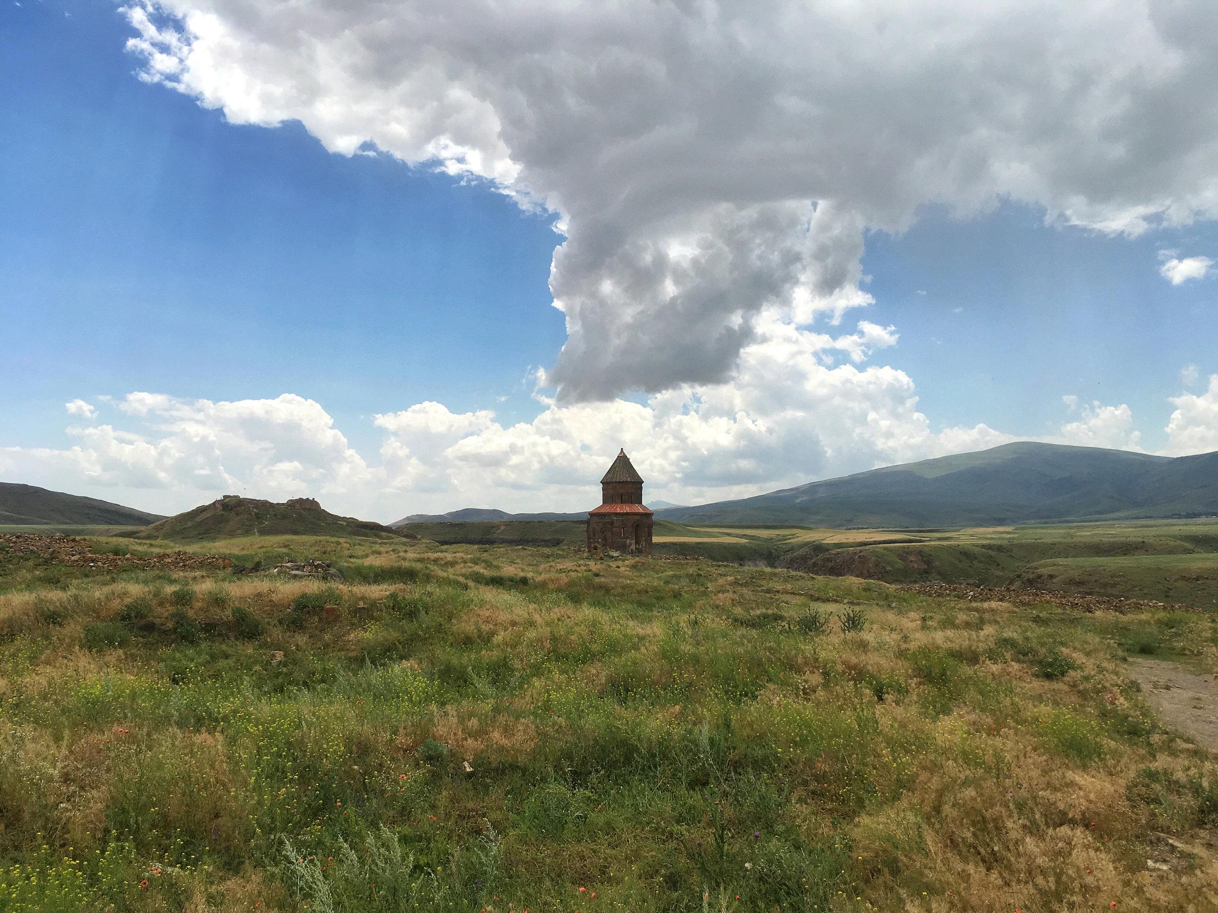 A Georgian Orthodox church stands alone