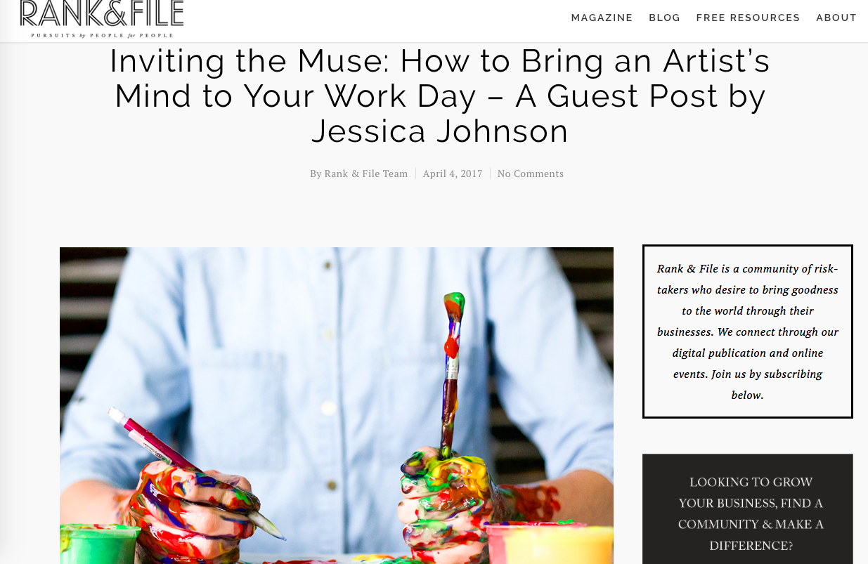Inviting the Muse - Guest Blog