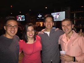 Britt with her best friend Tim, Lam and boyfriend, Eric