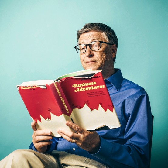"""Photo by: Wall Street Journal, """" Bill Gates's Favorite Business Book """" (July 11, 2014)"""