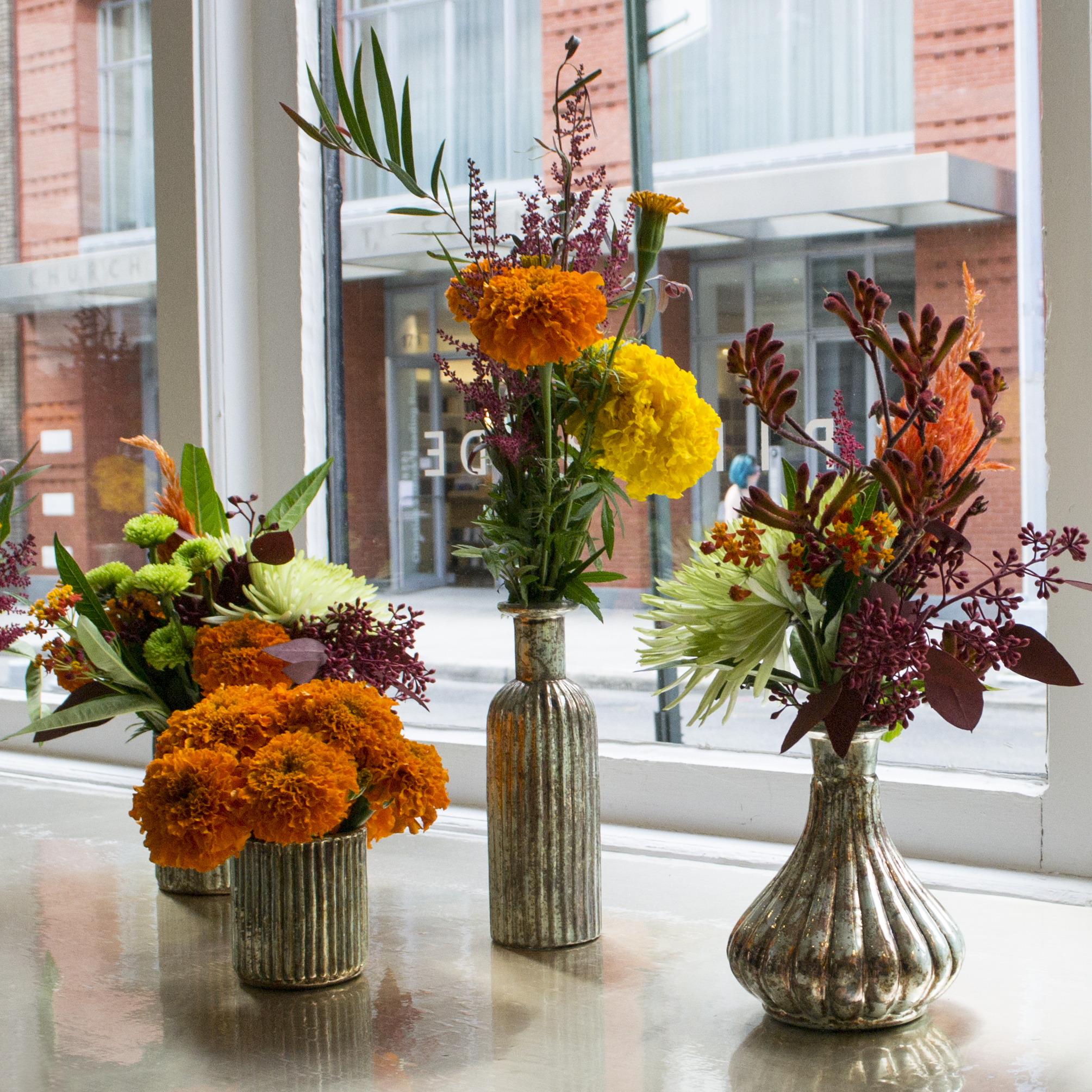 Sample flower arrangements from  our amazing flower guy Paul !