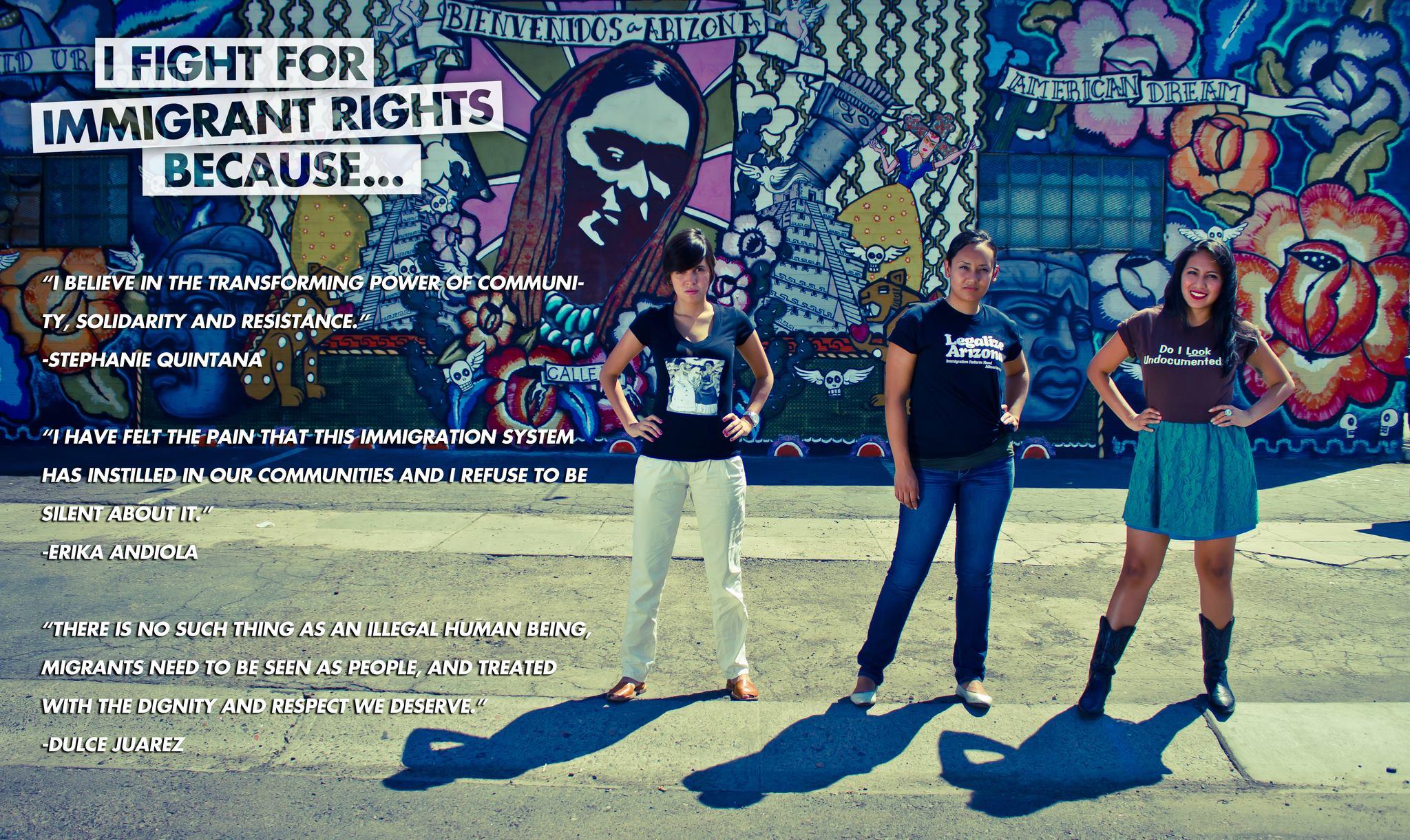 Stephanie Quintana Martinez, Erika Andiola, Dulce Juarez