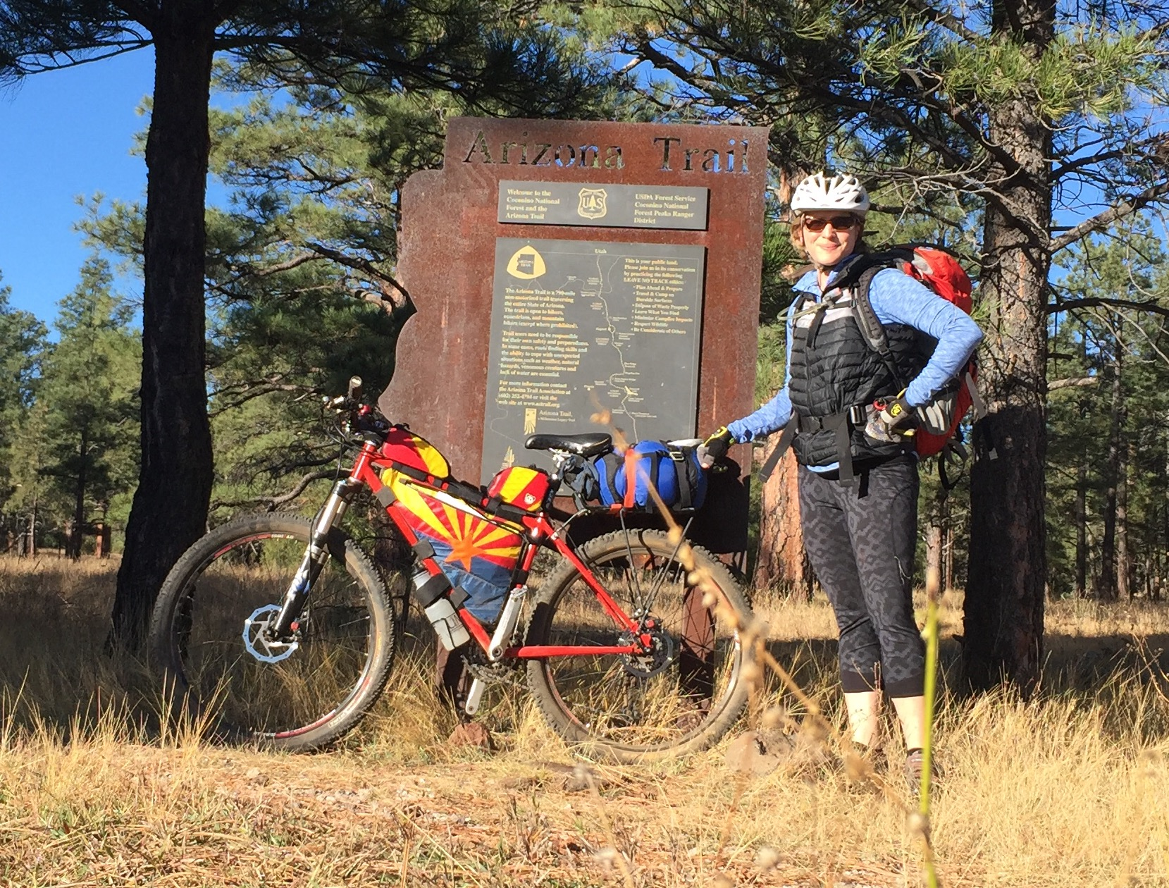 Getting ready to launch! Marshall Lake to Gooseberry Springs of the Arizona Trail!