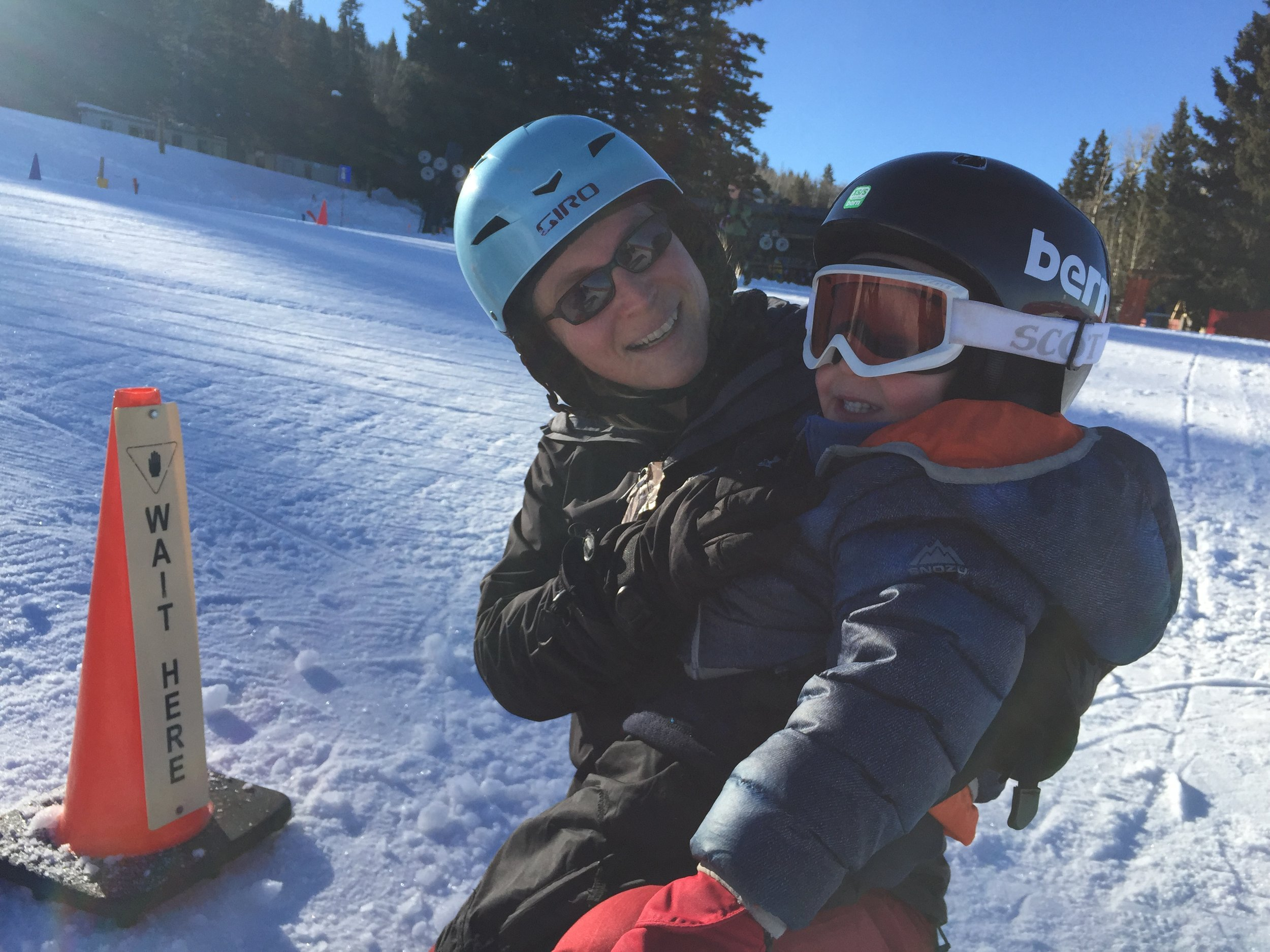 Having fun and bonding on the slopes is the most important thing at this age!