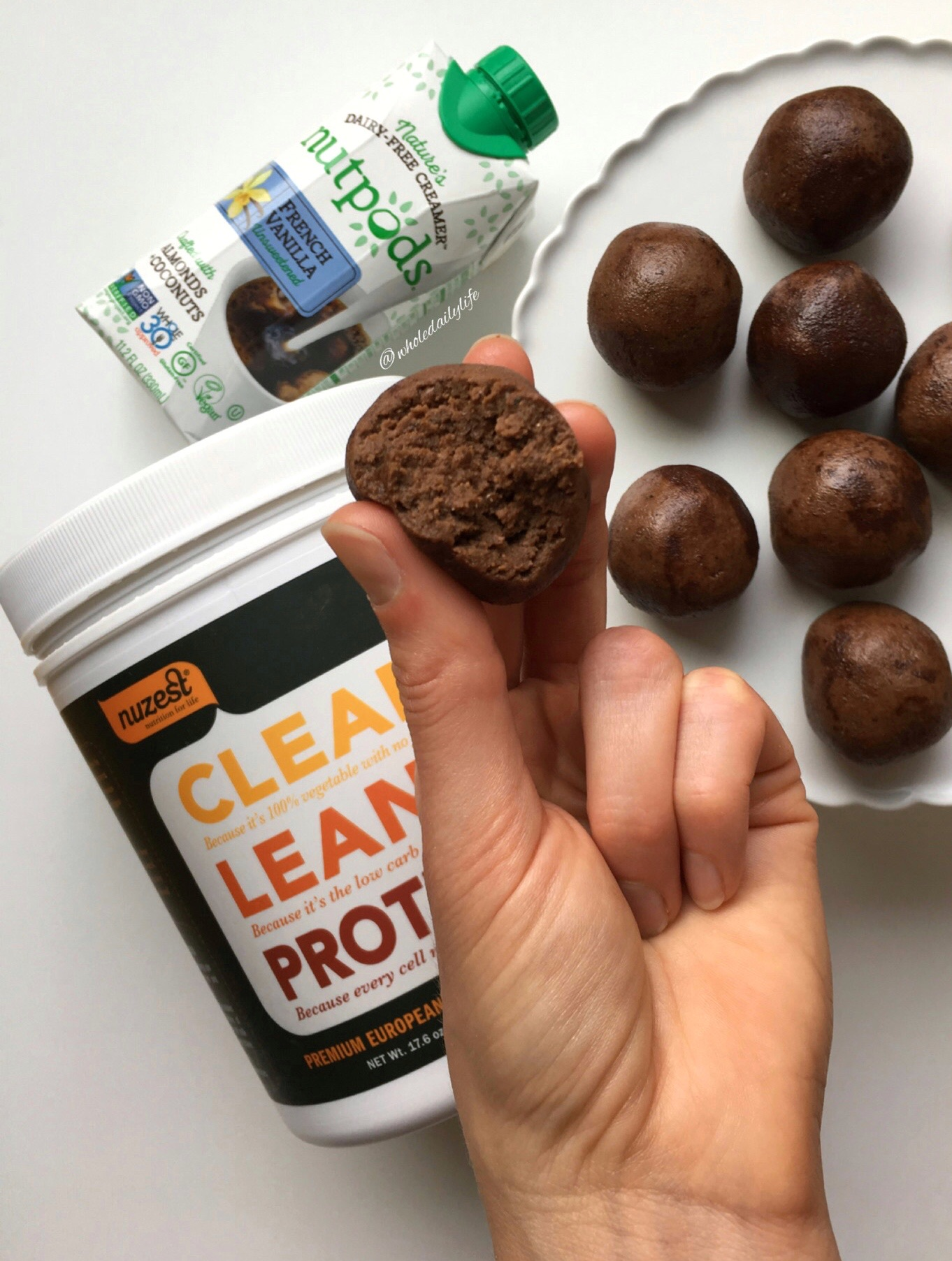 Brownie Batter Protein Balls - These plant based little morsels are like little bites of brownie batter, but instead of refined sugar, they are loaded up with healthy fats, fiber, and protein!