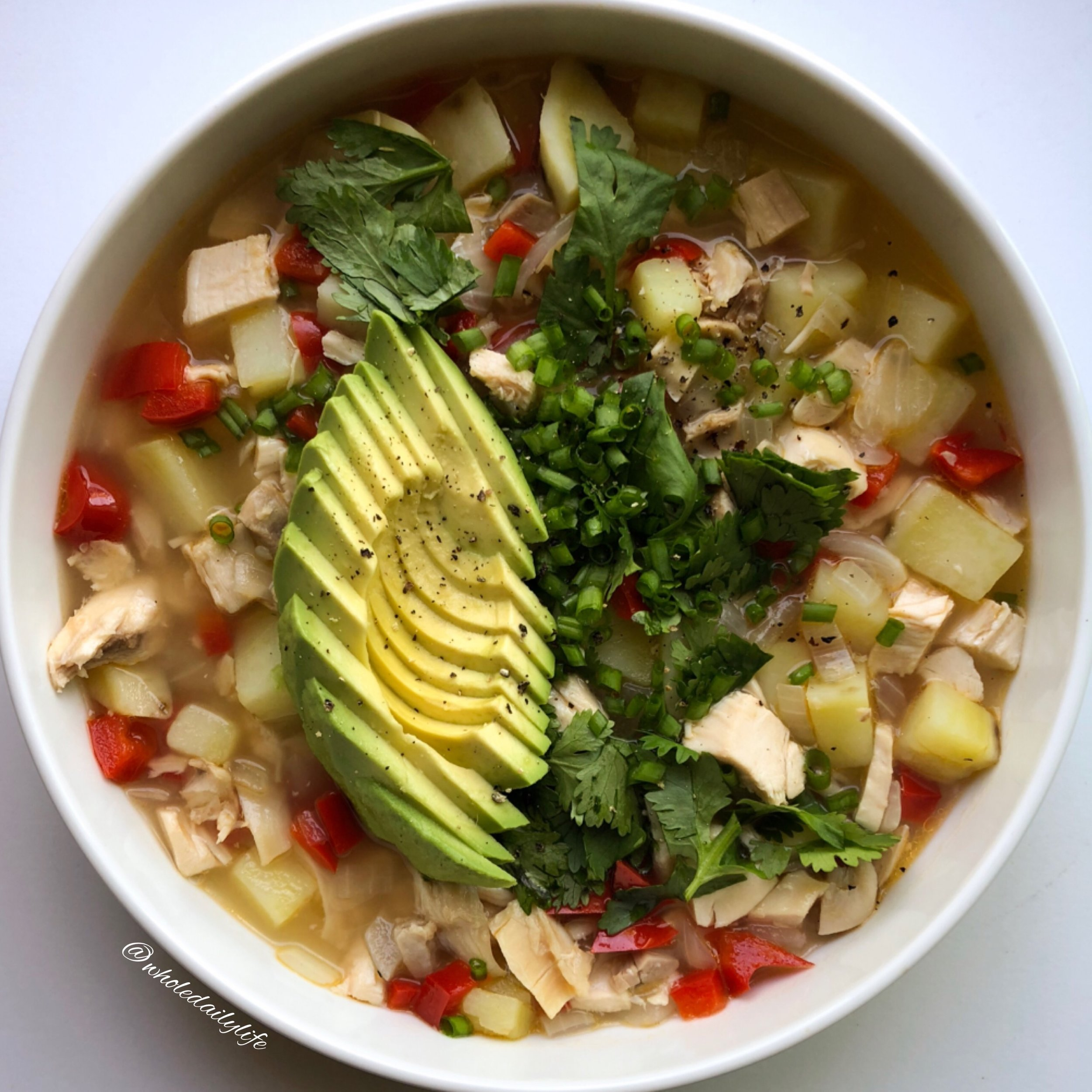 Whole30/Paleo White Chicken Chili | Guest Post by My Life Well Loved