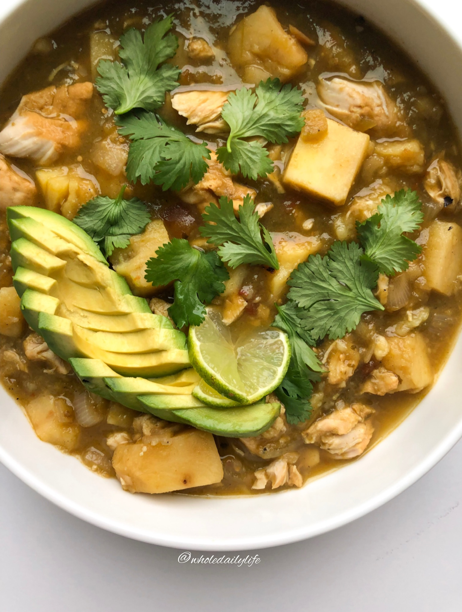White Chicken Chili - This Whole30 compliant Instant Pot recipe is the epitome of easy. Just combine a few ingredients, press a button, and call it a day!